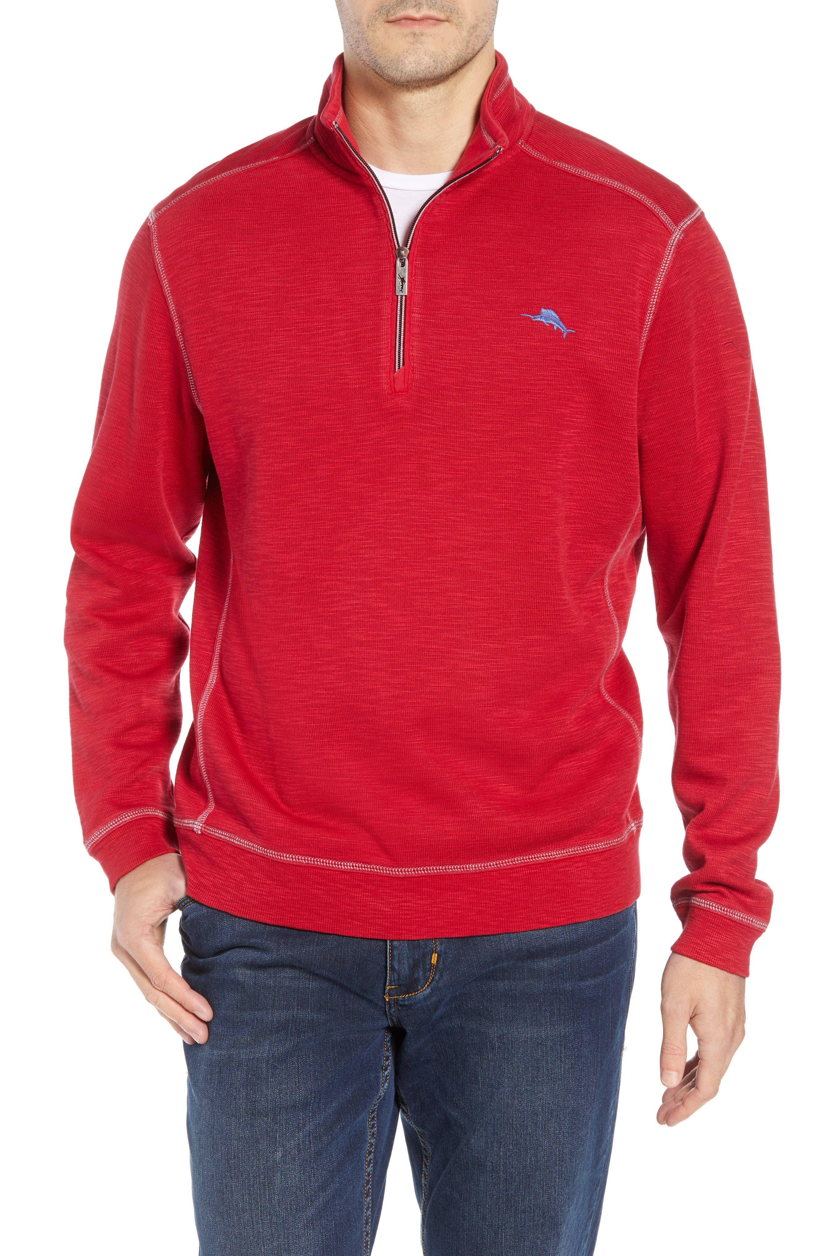 Tobago Bay Half Zip Pullover,                         Main,                         color, SCOOTER RED