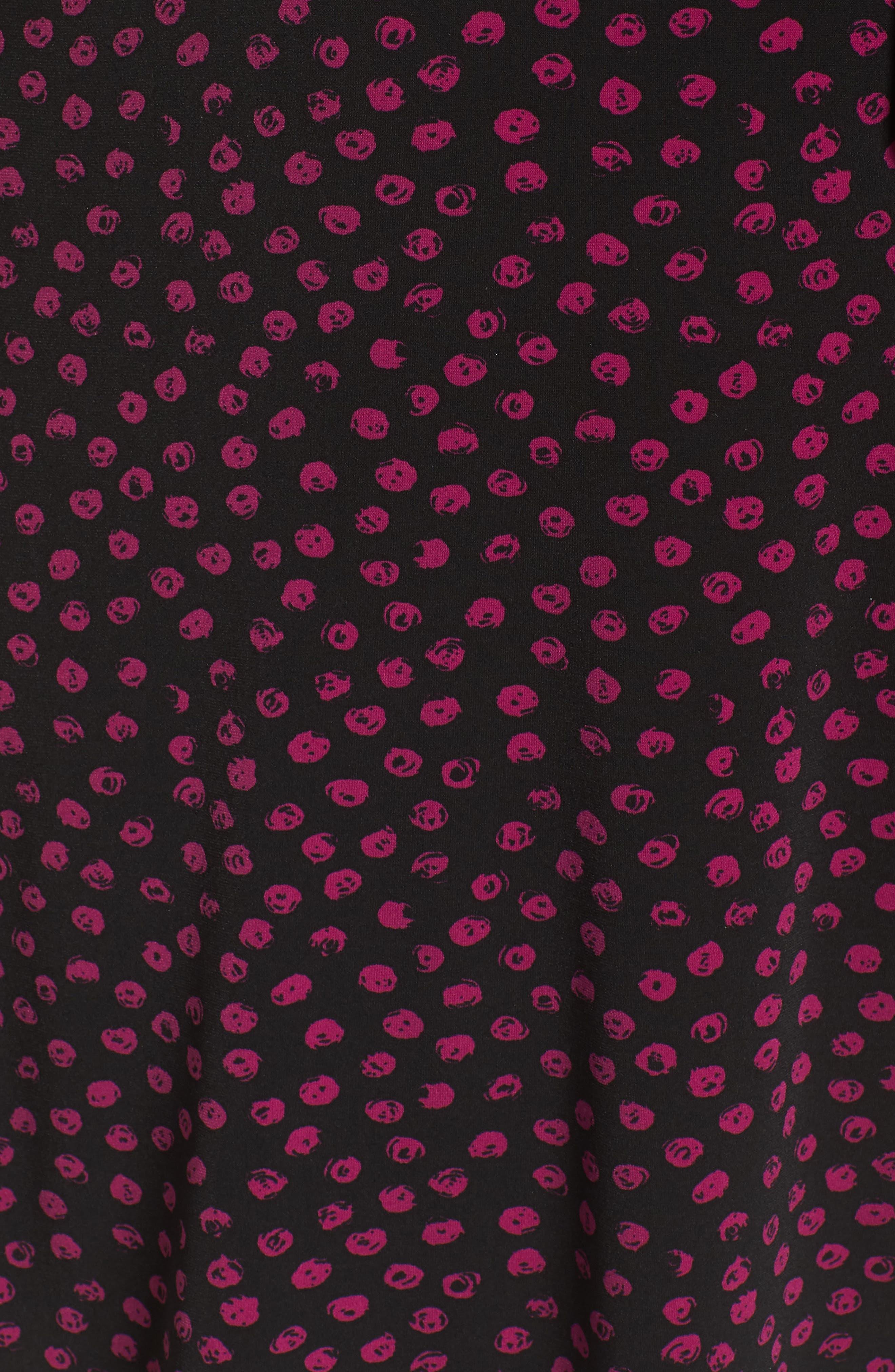 Perfect Faux Wrap Jersey Dress,                             Alternate thumbnail 6, color,                             APPALOOSA BLACK