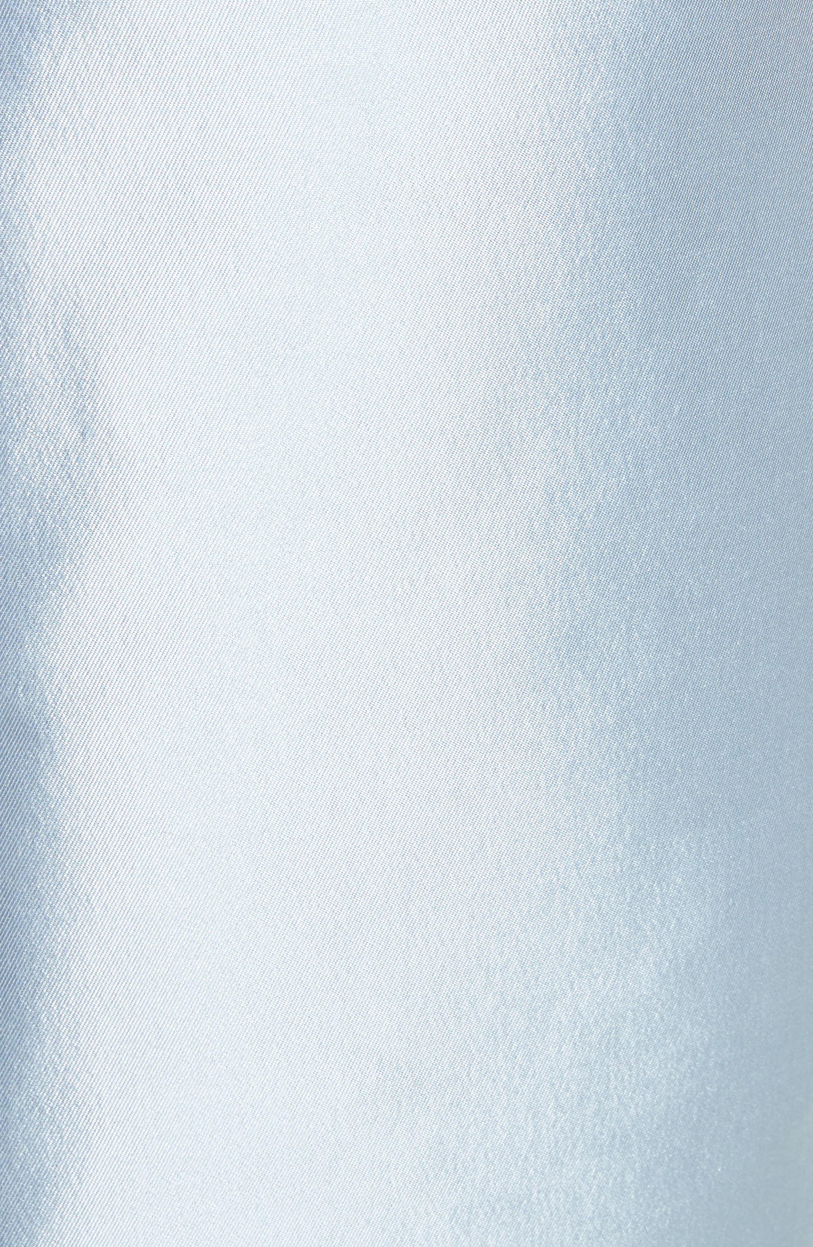 Puff Sleeve Silk Blend Sheath Dress,                             Alternate thumbnail 5, color,                             450