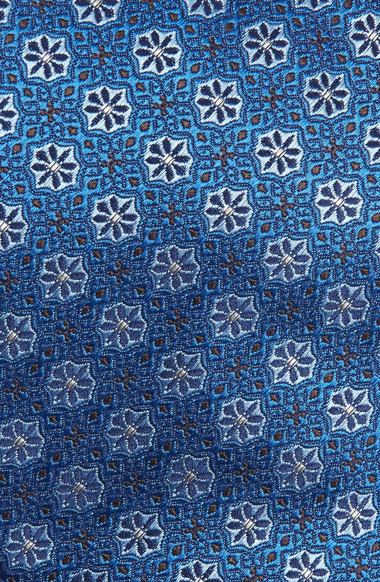 Medallion Silk Tie,                             Alternate thumbnail 2, color,                             TURQUOISE