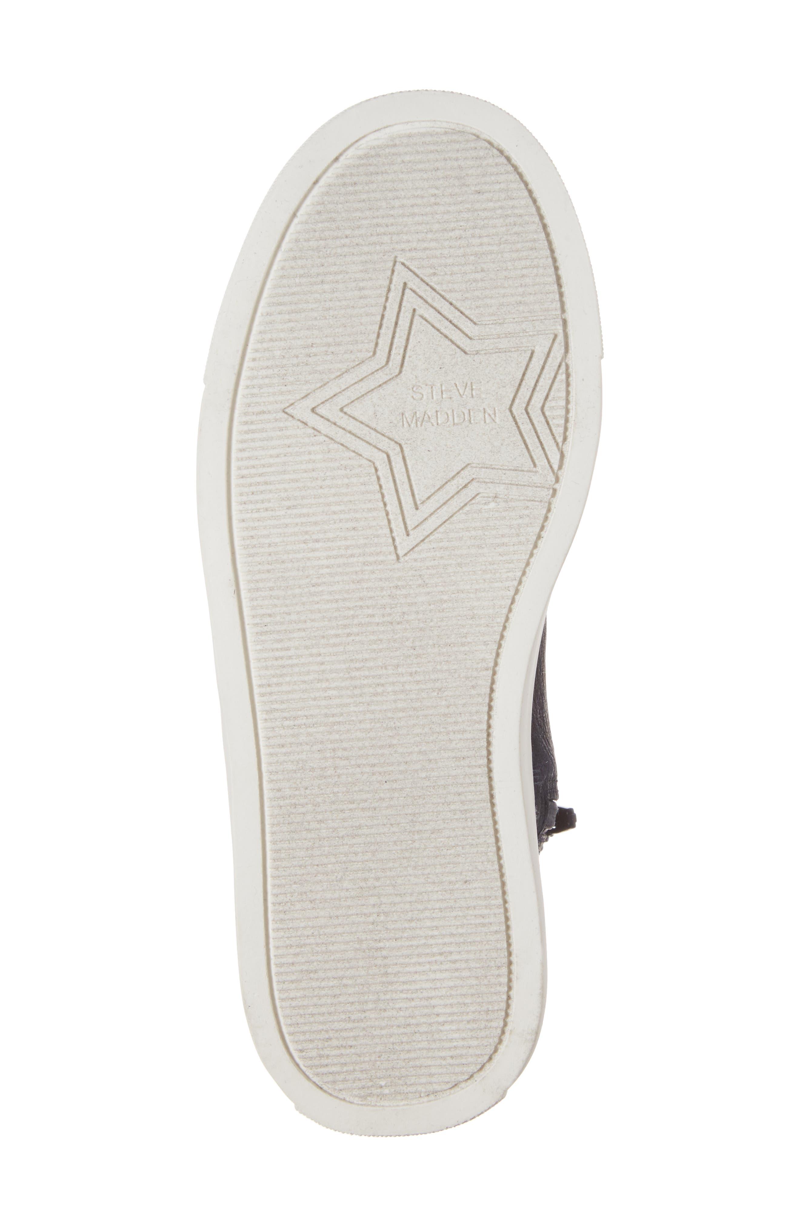 Jflash Glitter Star High Top Sneaker,                             Alternate thumbnail 6, color,