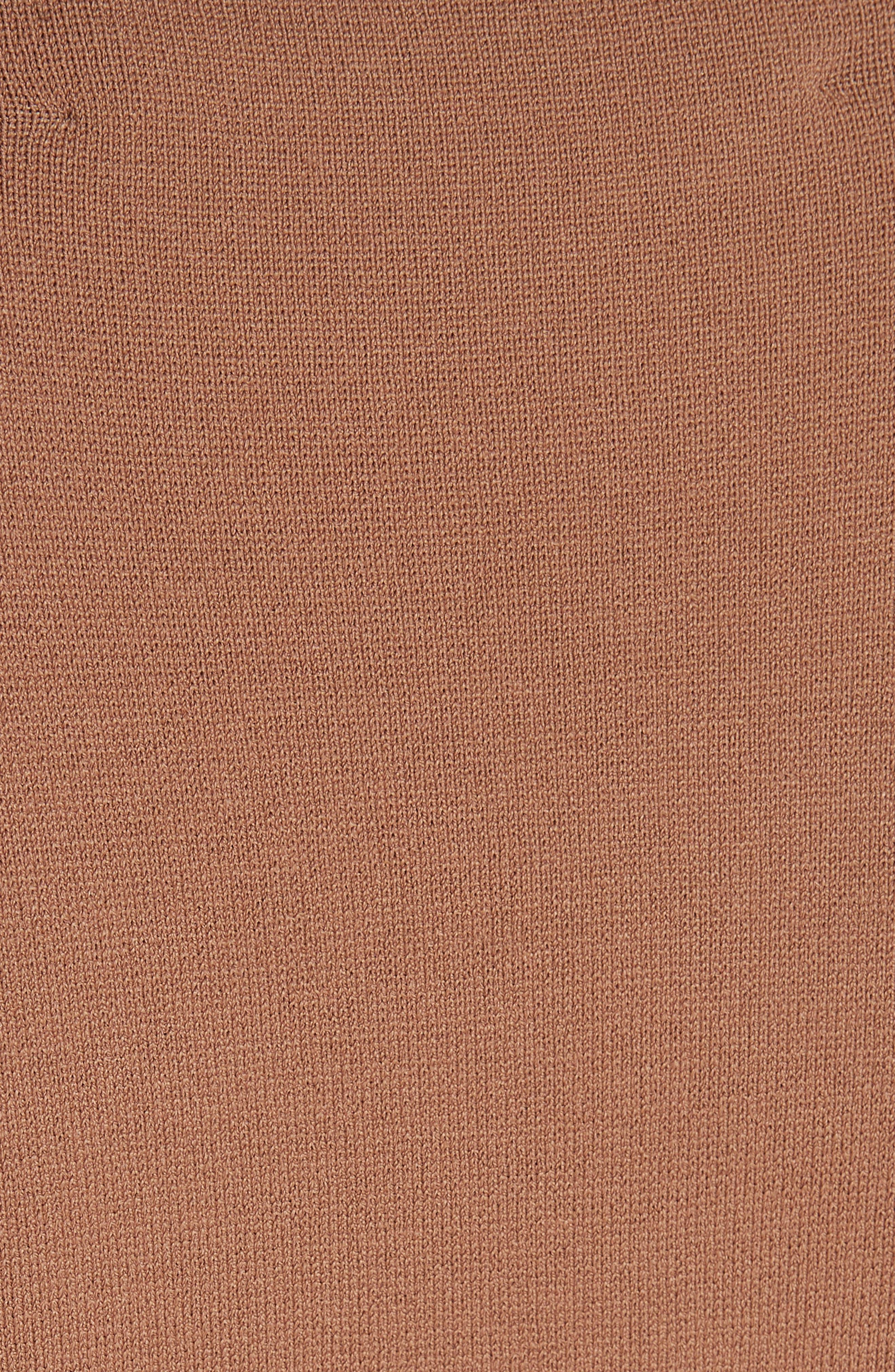 Diane von Furstenberg Knit Wrap Dress,                             Alternate thumbnail 5, color,                             WALNUT