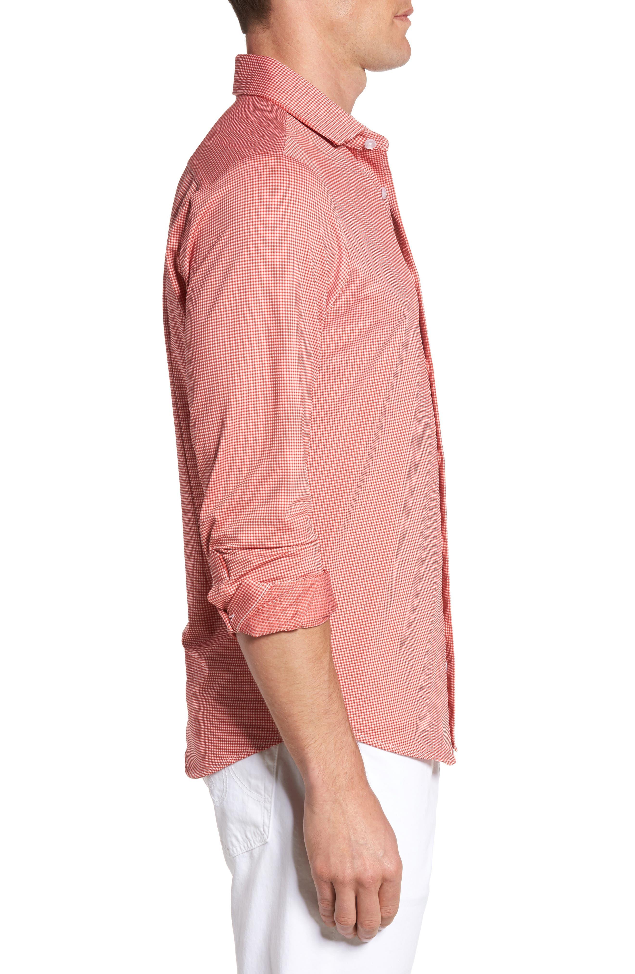 MIZZEN+MAIN,                             Hawthorne Gingham Sport Shirt,                             Alternate thumbnail 3, color,                             600