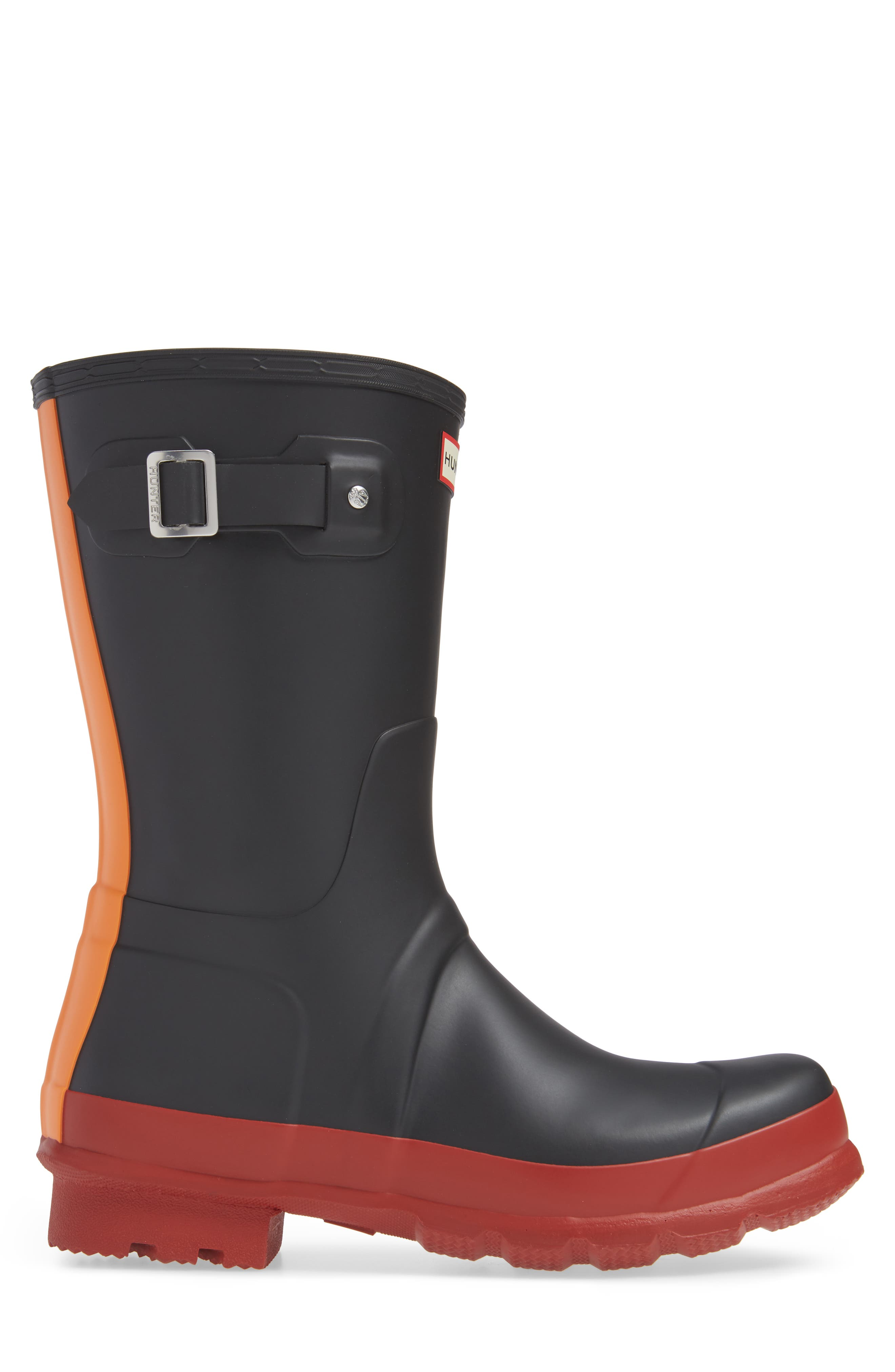 Waterproof Original Boot,                             Alternate thumbnail 3, color,                             BLACK/ RED COLOR BLOCK