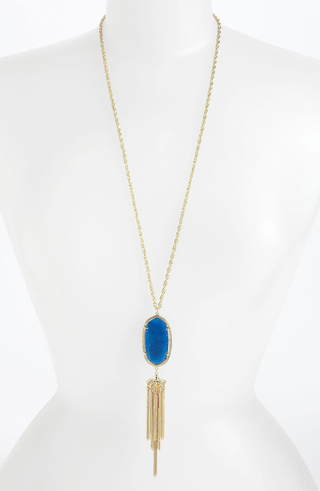 Rayne Stone Tassel Pendant Necklace,                             Main thumbnail 40, color,