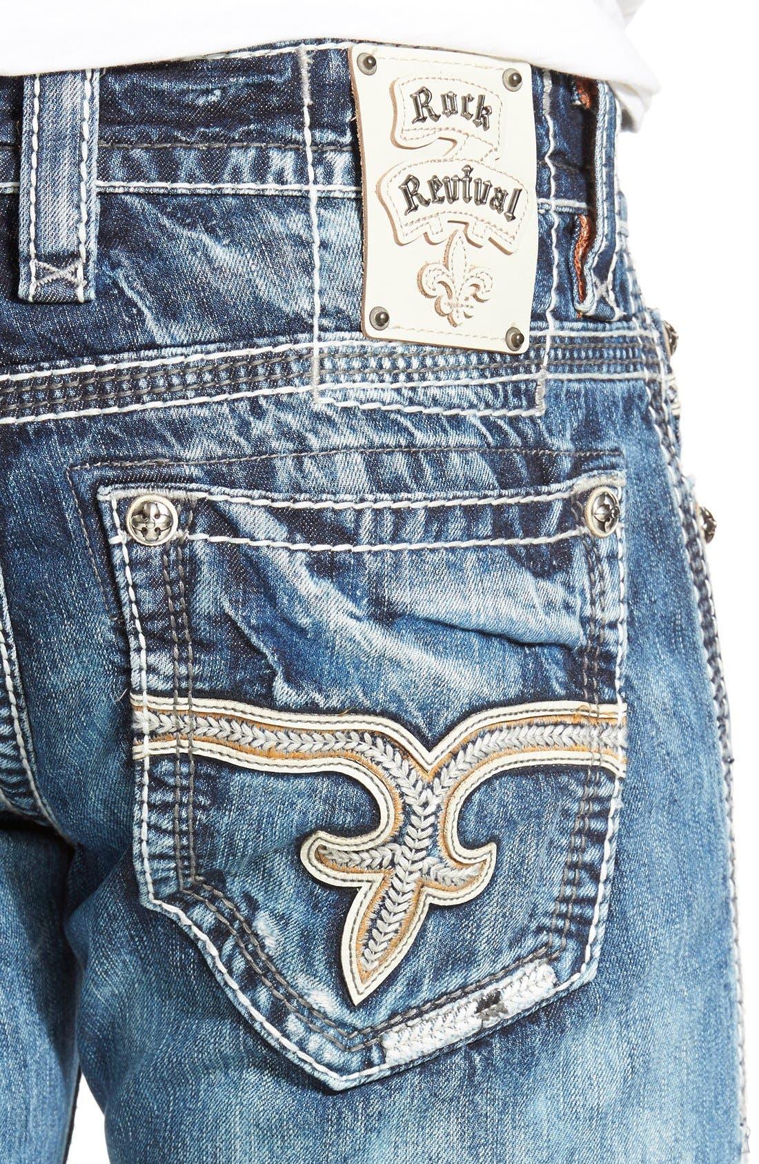 ROCK REVIVAL,                             'Emmet' Straight Leg Jeans,                             Alternate thumbnail 5, color,                             431