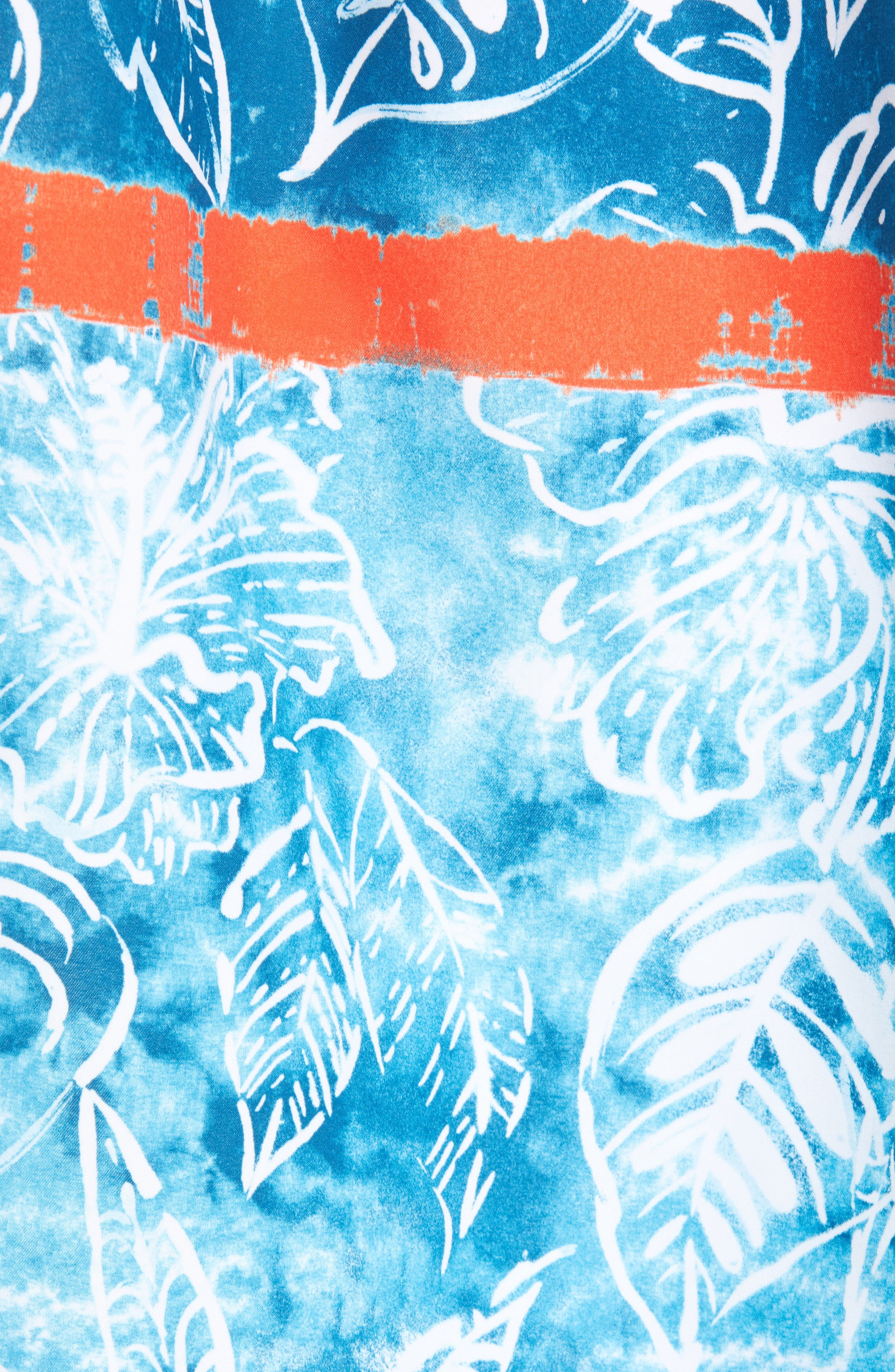 Baja Mar Batik Print Board Shorts,                             Alternate thumbnail 5, color,                             RIVIERA AZURE