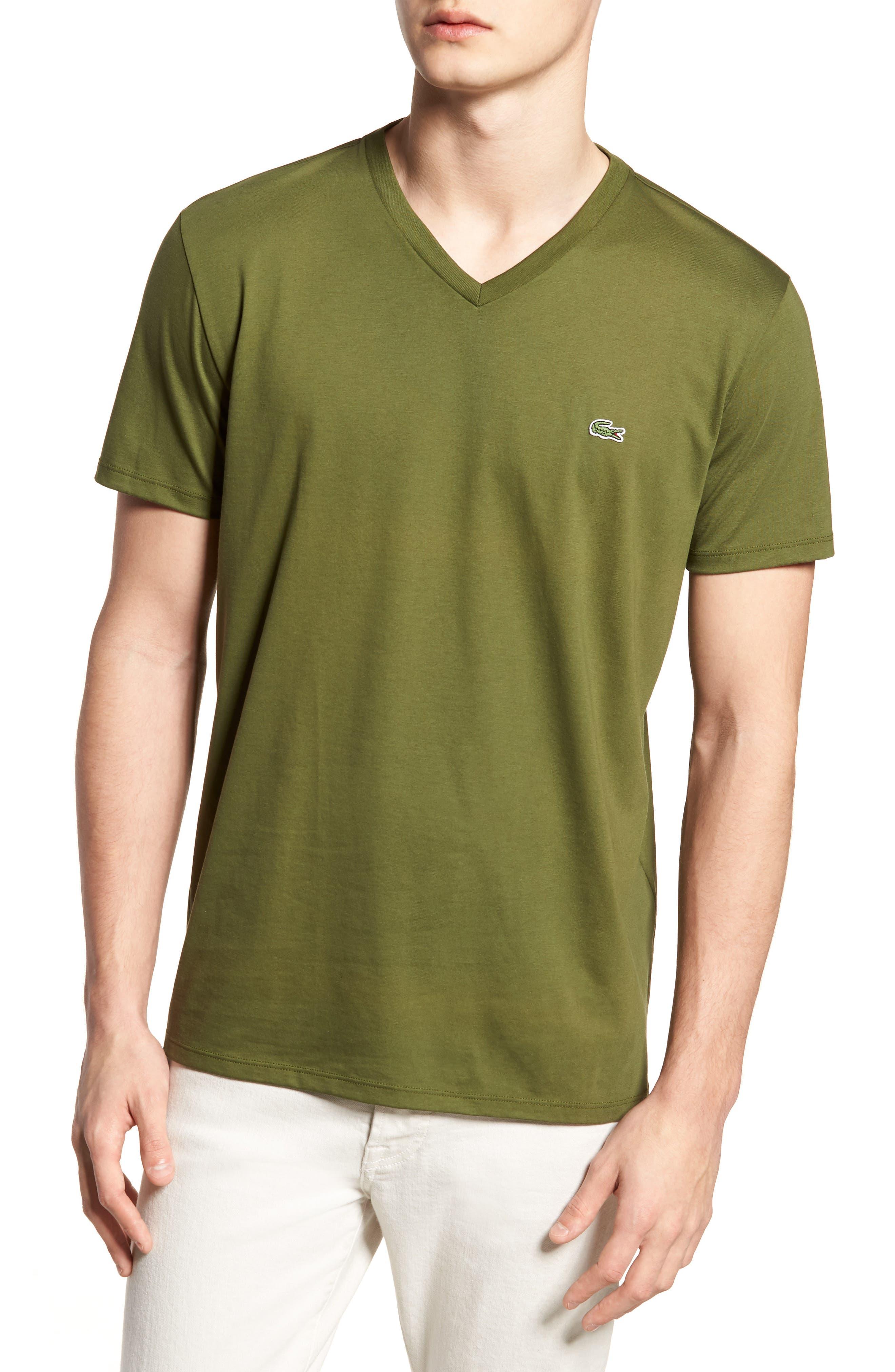 V-Neck Cotton T-Shirt, Main, color, 305