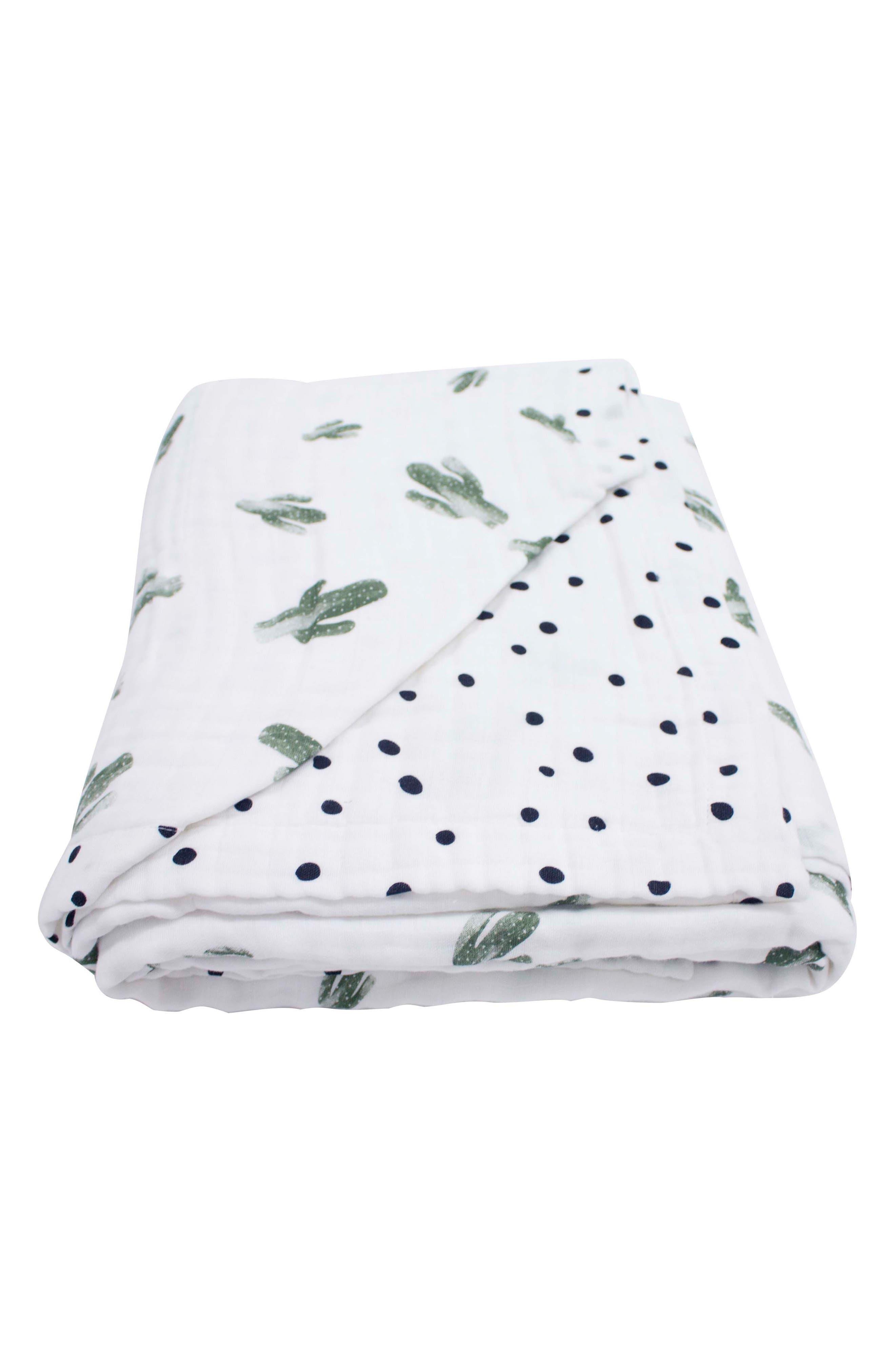 Oh So Soft Super Snuggle Blanket,                         Main,                         color, SAGUARO/ DOTTIE