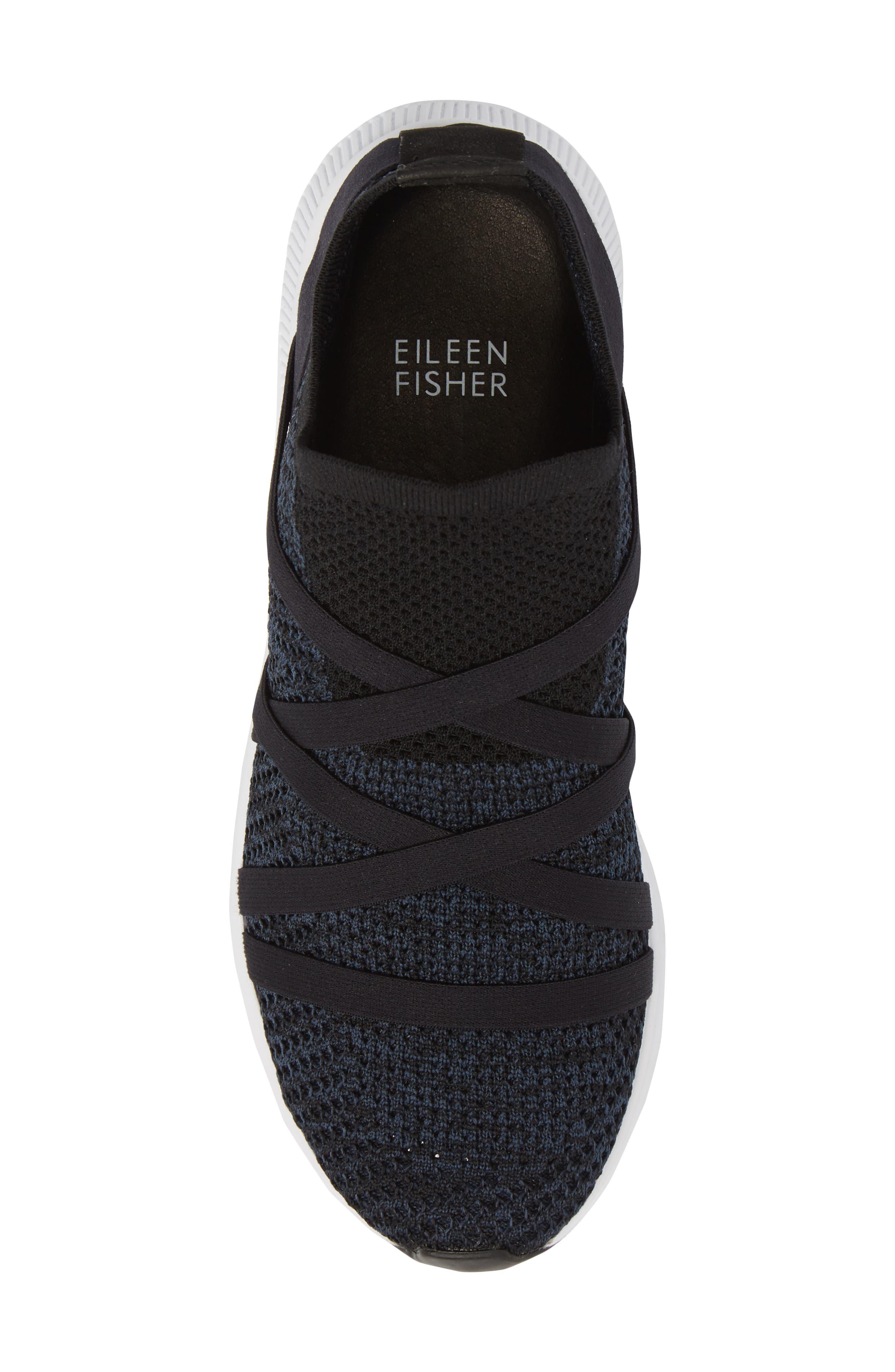 Xanady Woven Slip-On Sneaker,                             Alternate thumbnail 5, color,                             BLACK/ MARINE STRETCH