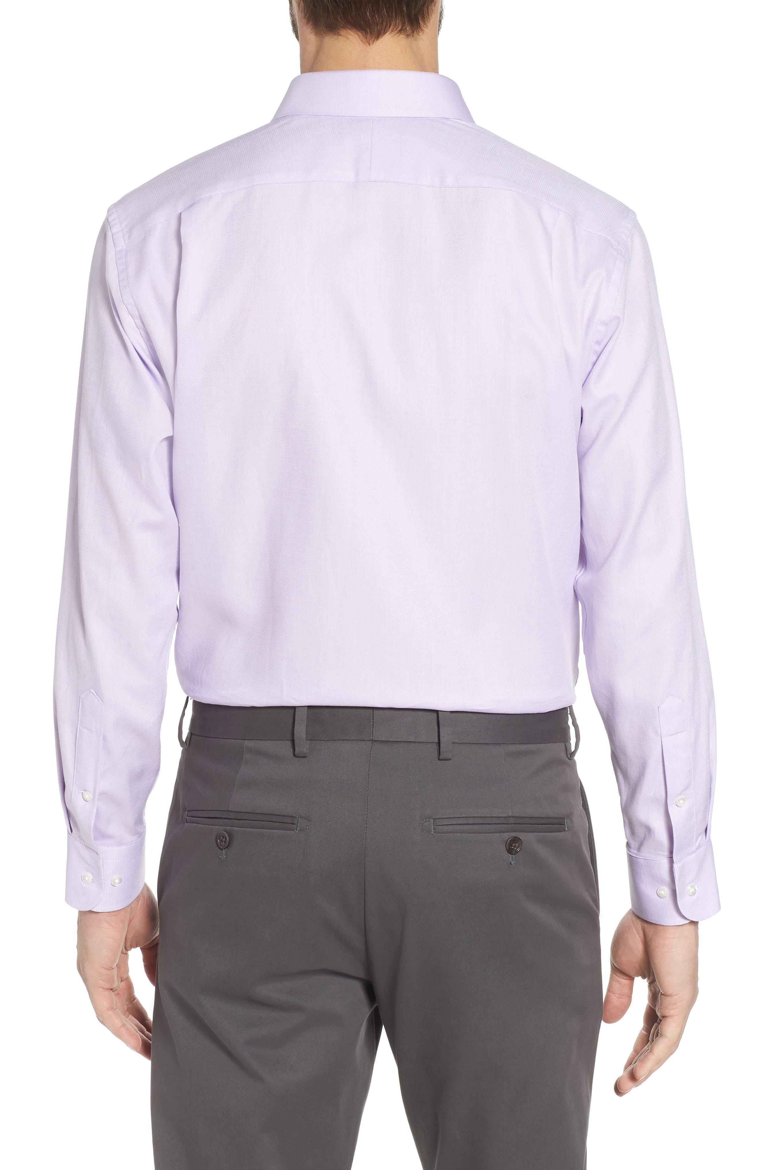 Trim Fit Solid Dress Shirt,                             Alternate thumbnail 3, color,                             530