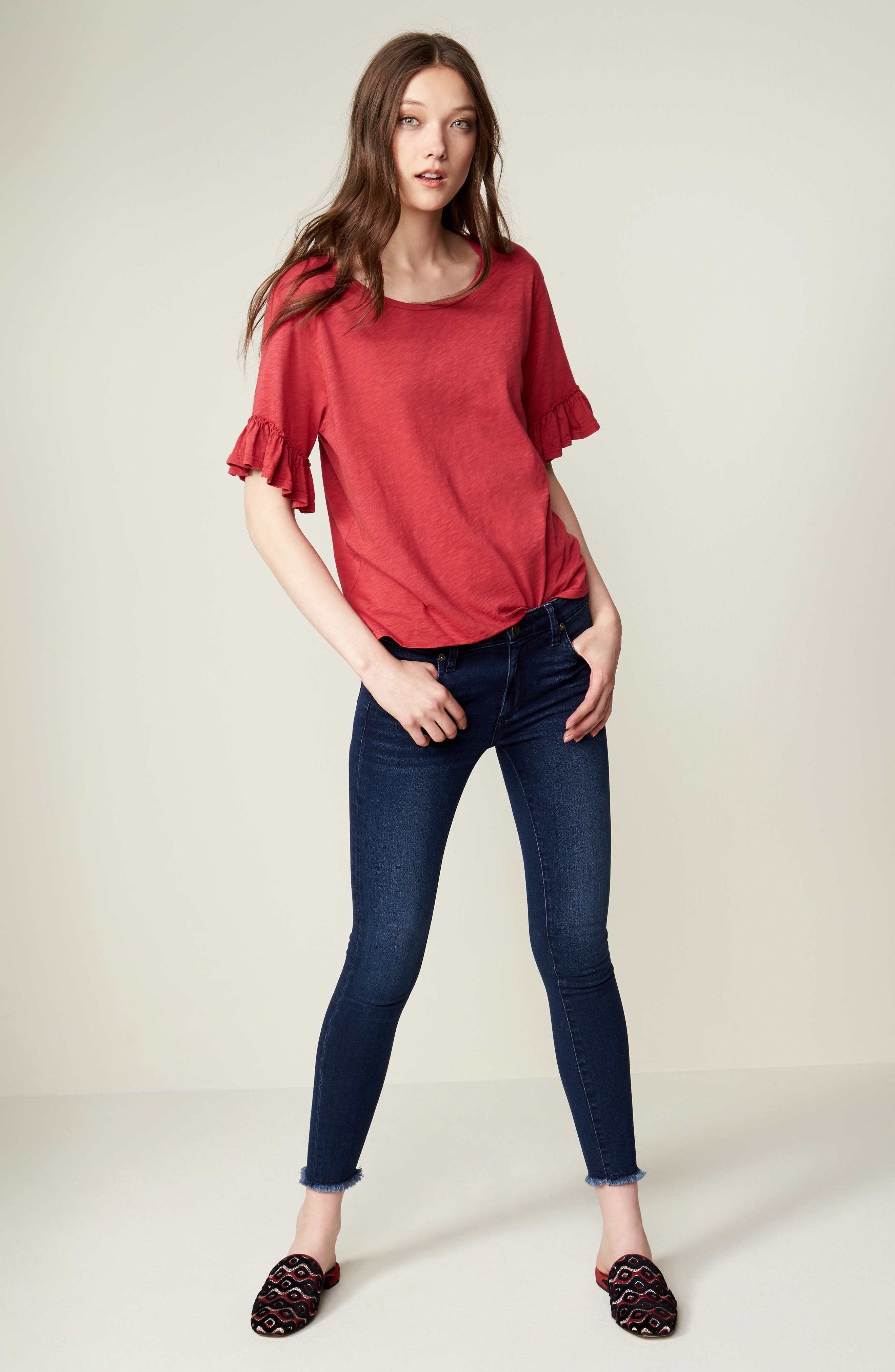 Connie Skinny Ankle Jeans,                             Alternate thumbnail 7, color,                             460