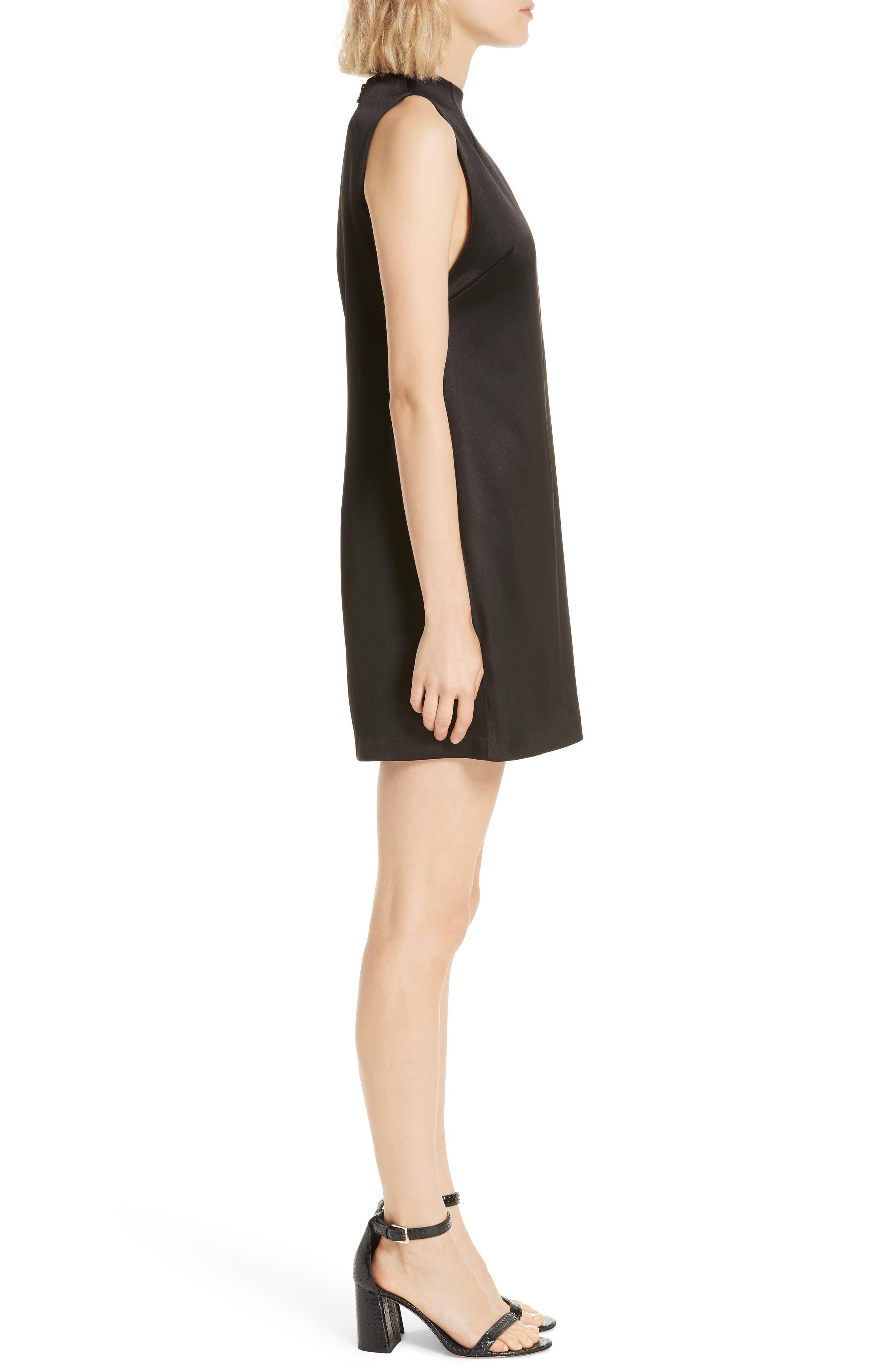 ALICE + OLIVIA,                             Coley A-Line Shift Dress,                             Alternate thumbnail 4, color,                             BLACK