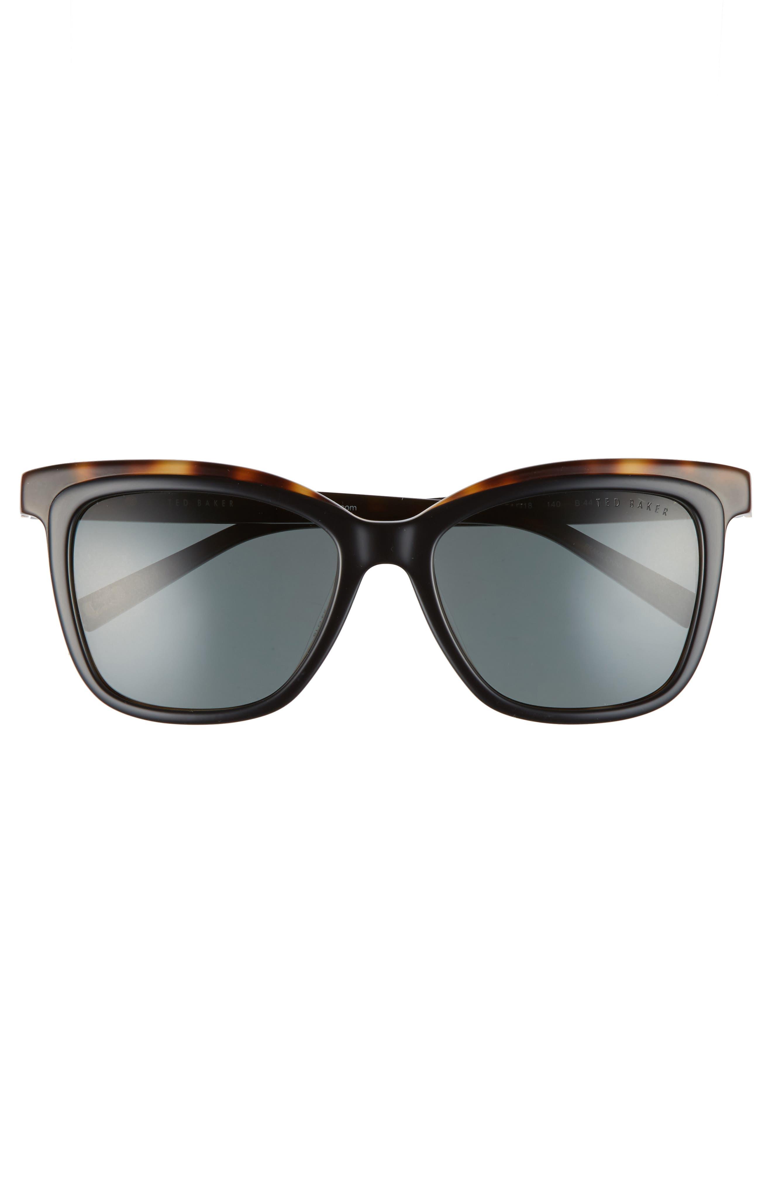 54mm Polarized Cat Eye Sunglasses,                             Alternate thumbnail 3, color,                             002