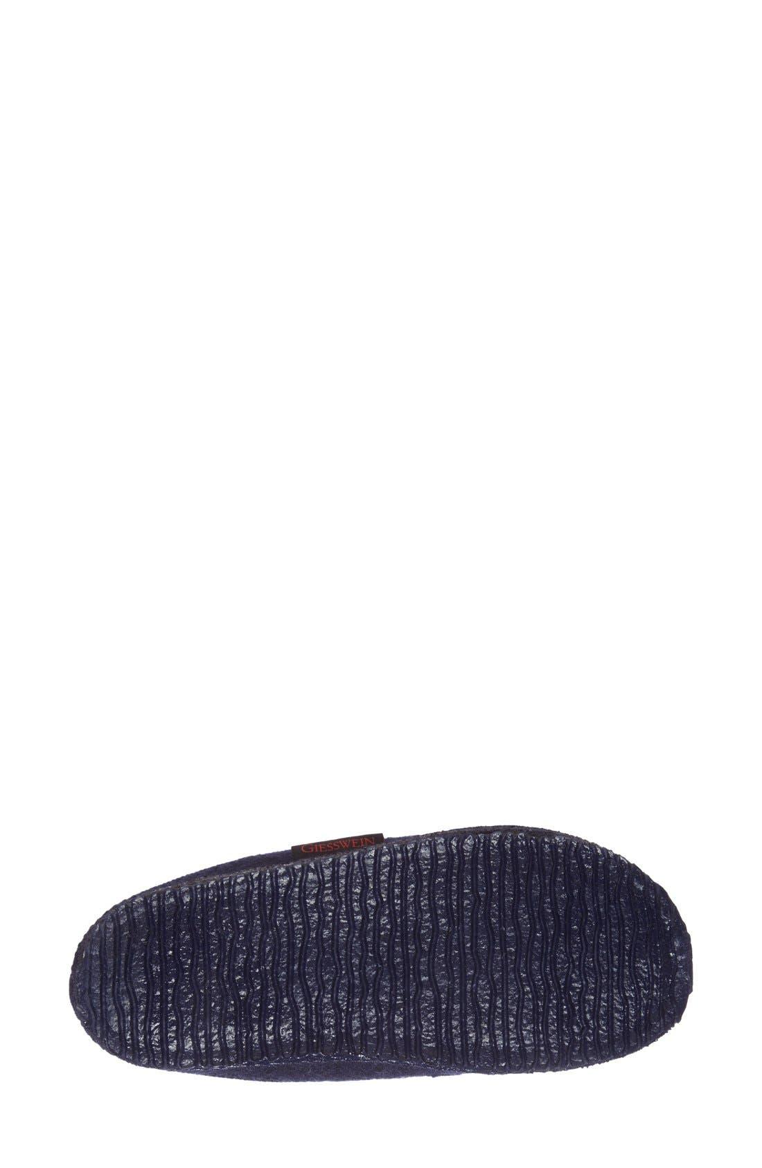 'Mado' Wool Slipper,                             Alternate thumbnail 4, color,                             NAVY WOOL