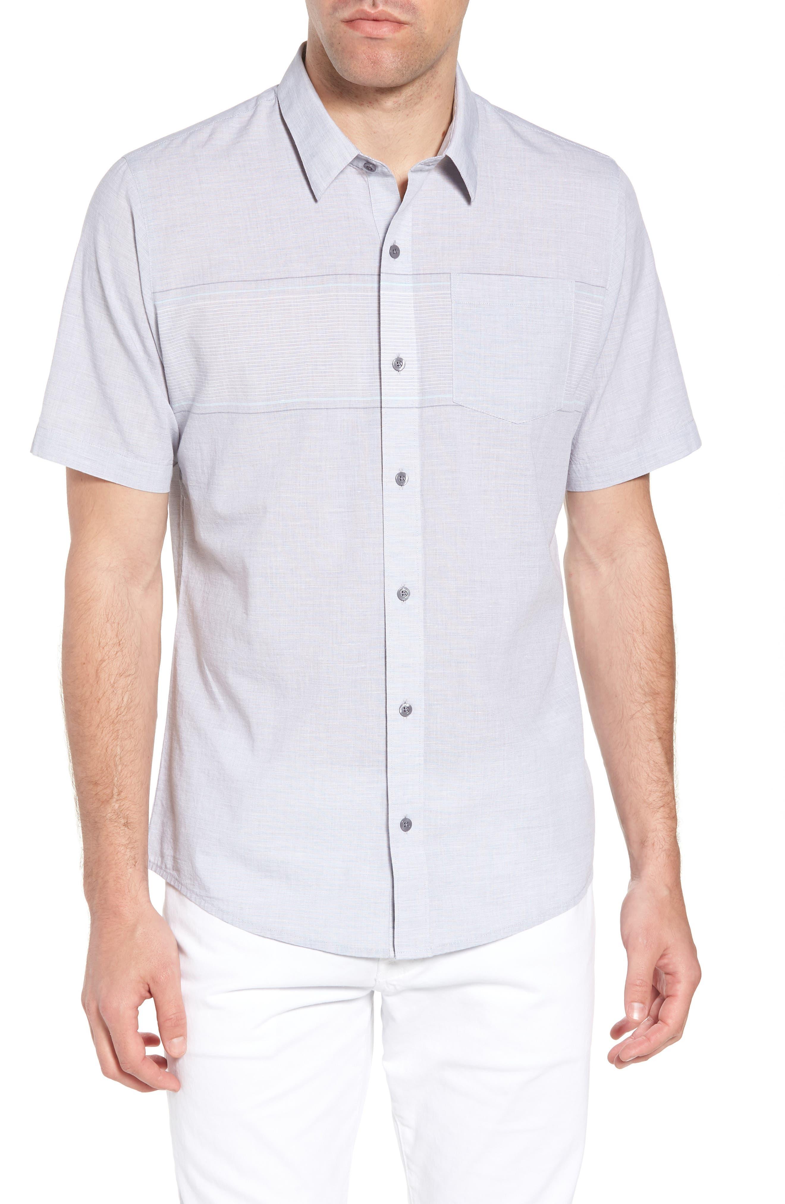 Oscar Regular Fit Sport Shirt,                             Main thumbnail 1, color,                             HEATHER GRASILLE