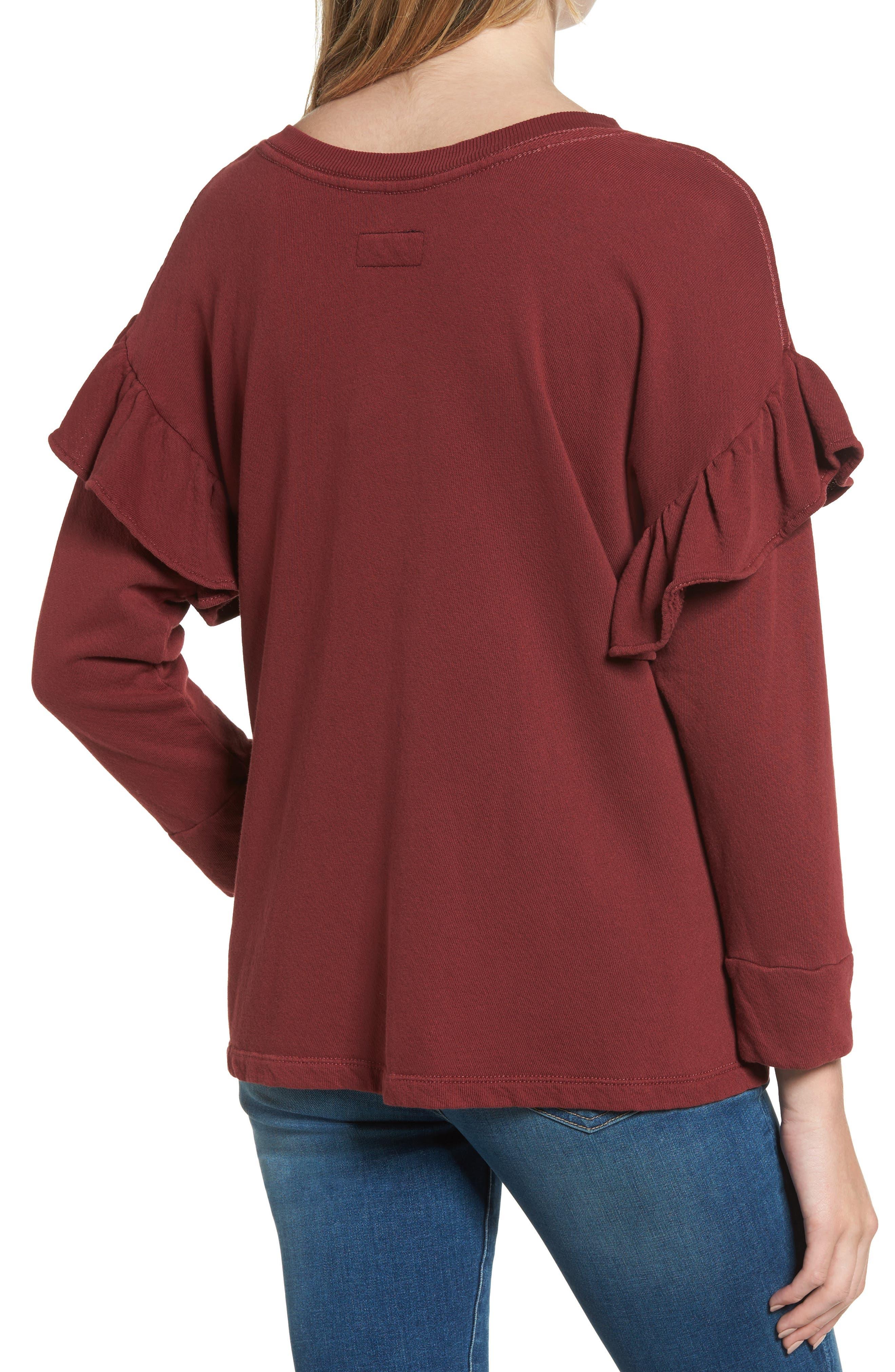 The Ruffle Sweatshirt,                             Alternate thumbnail 2, color,                             601