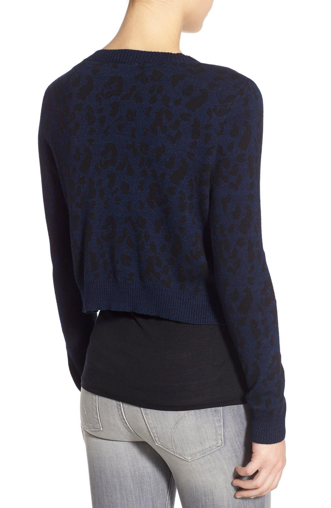 JOE'S,                             Leopard Print Crop Sweater,                             Alternate thumbnail 5, color,                             440
