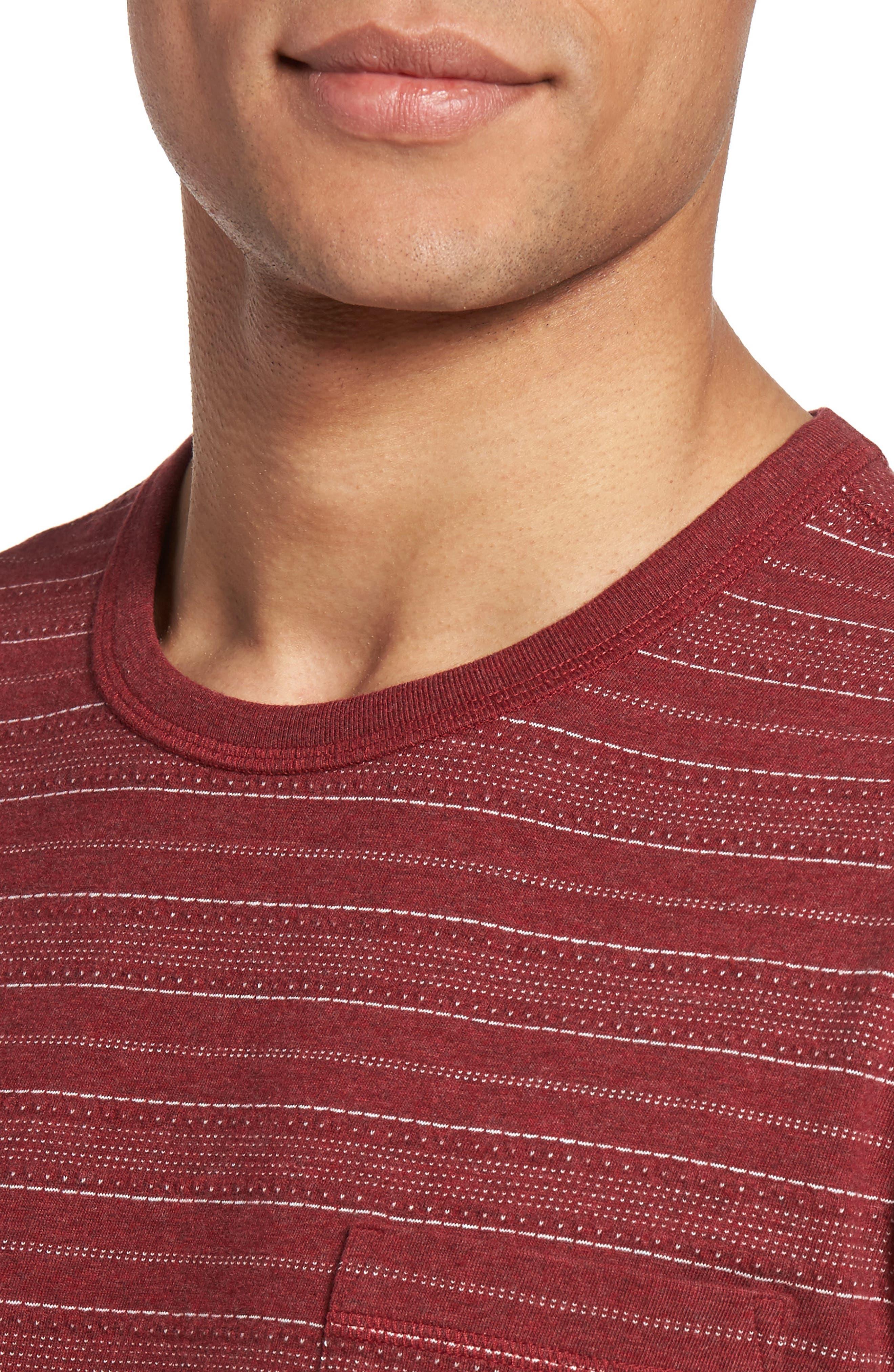 Jacquard Stripe T-Shirt,                             Alternate thumbnail 4, color,                             938