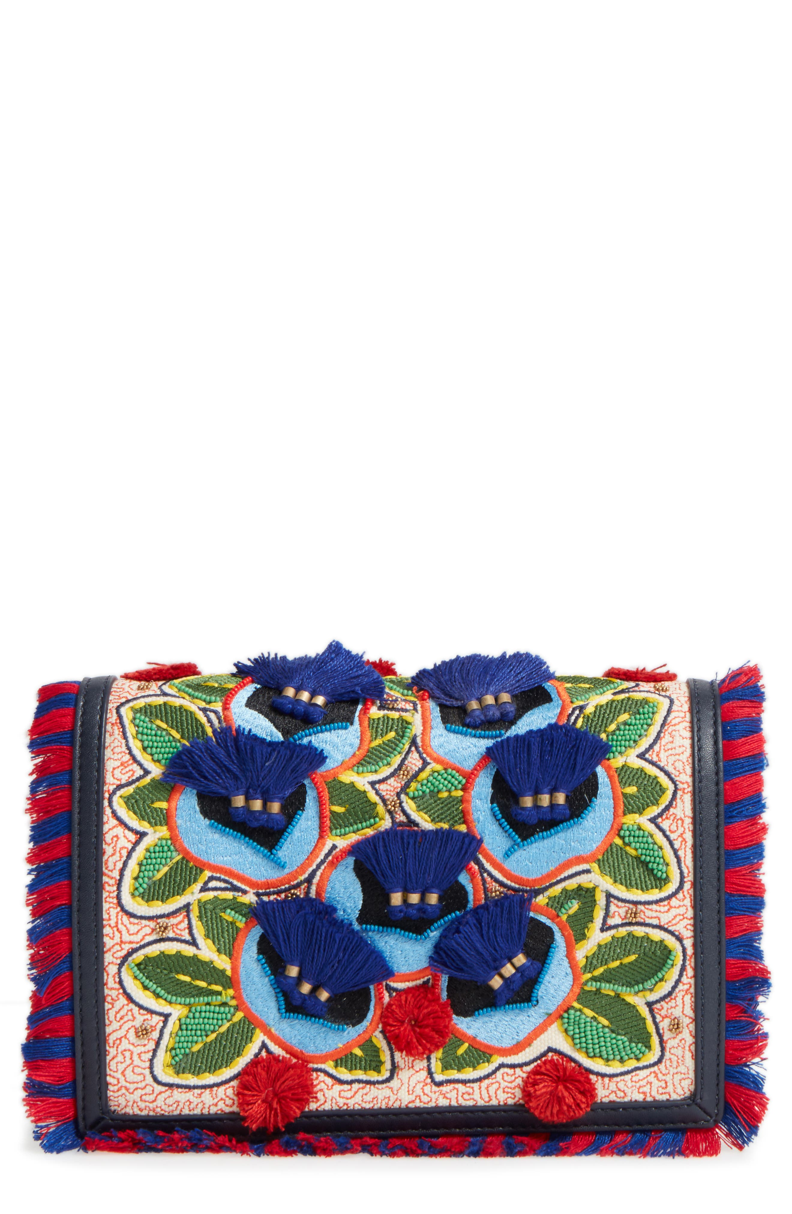 Embroidered Floral Crossbody Bag,                             Main thumbnail 1, color,                             400