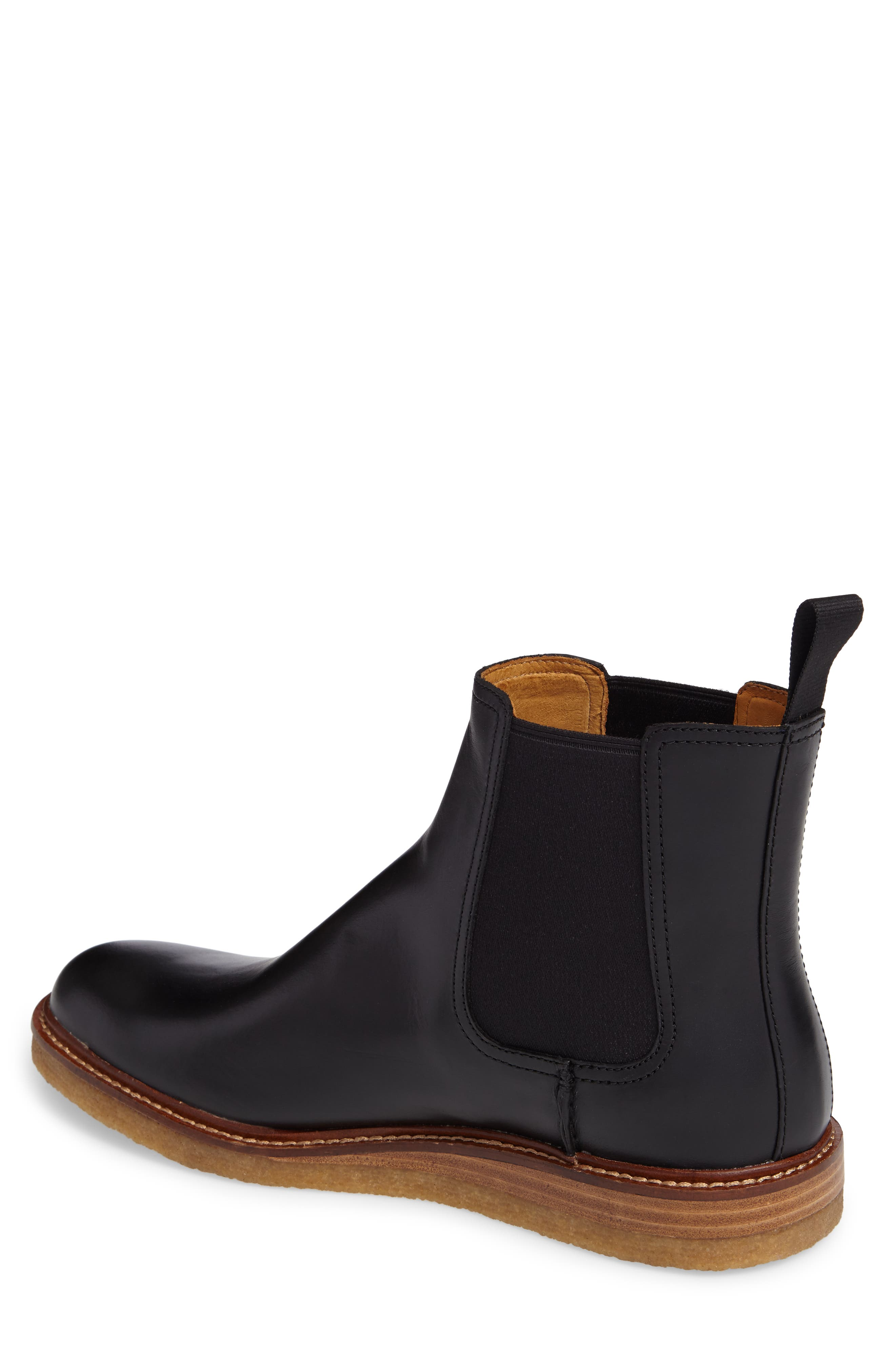 Leather Chelsea Boot,                             Alternate thumbnail 2, color,                             001