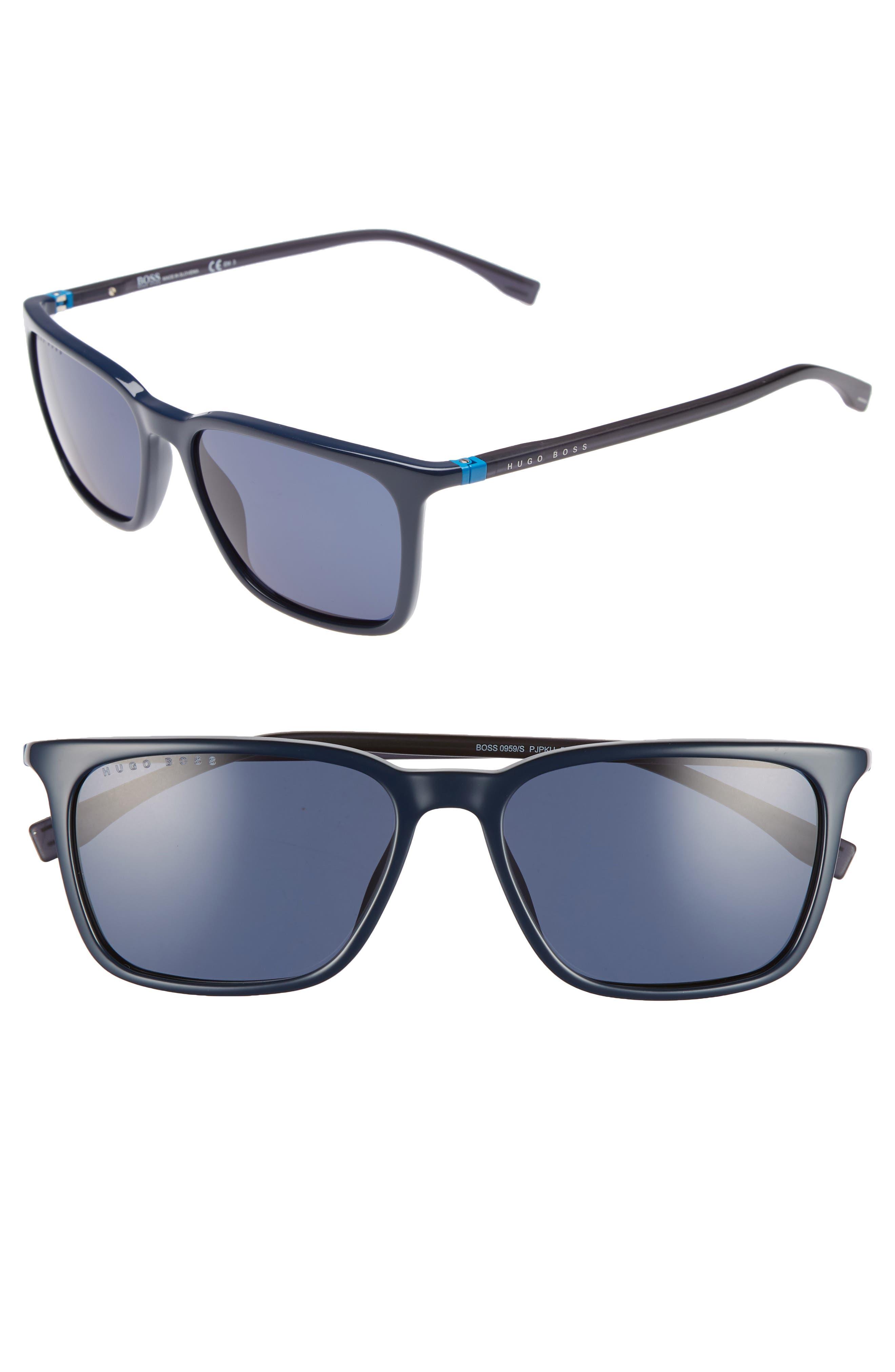 56mm Sunglasses,                         Main,                         color, BLUE