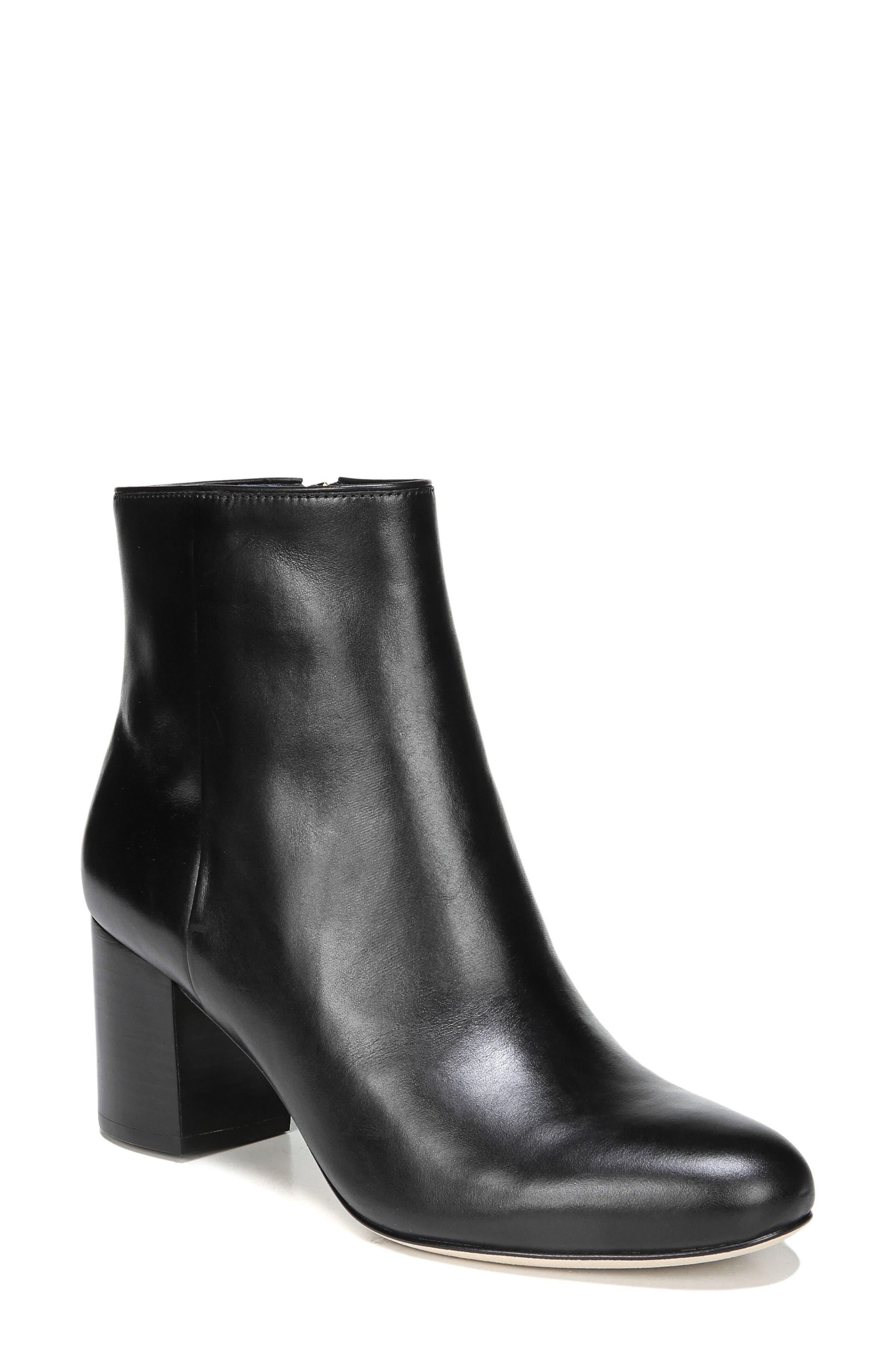 Lannoux Block Heel Bootie,                         Main,                         color, 001