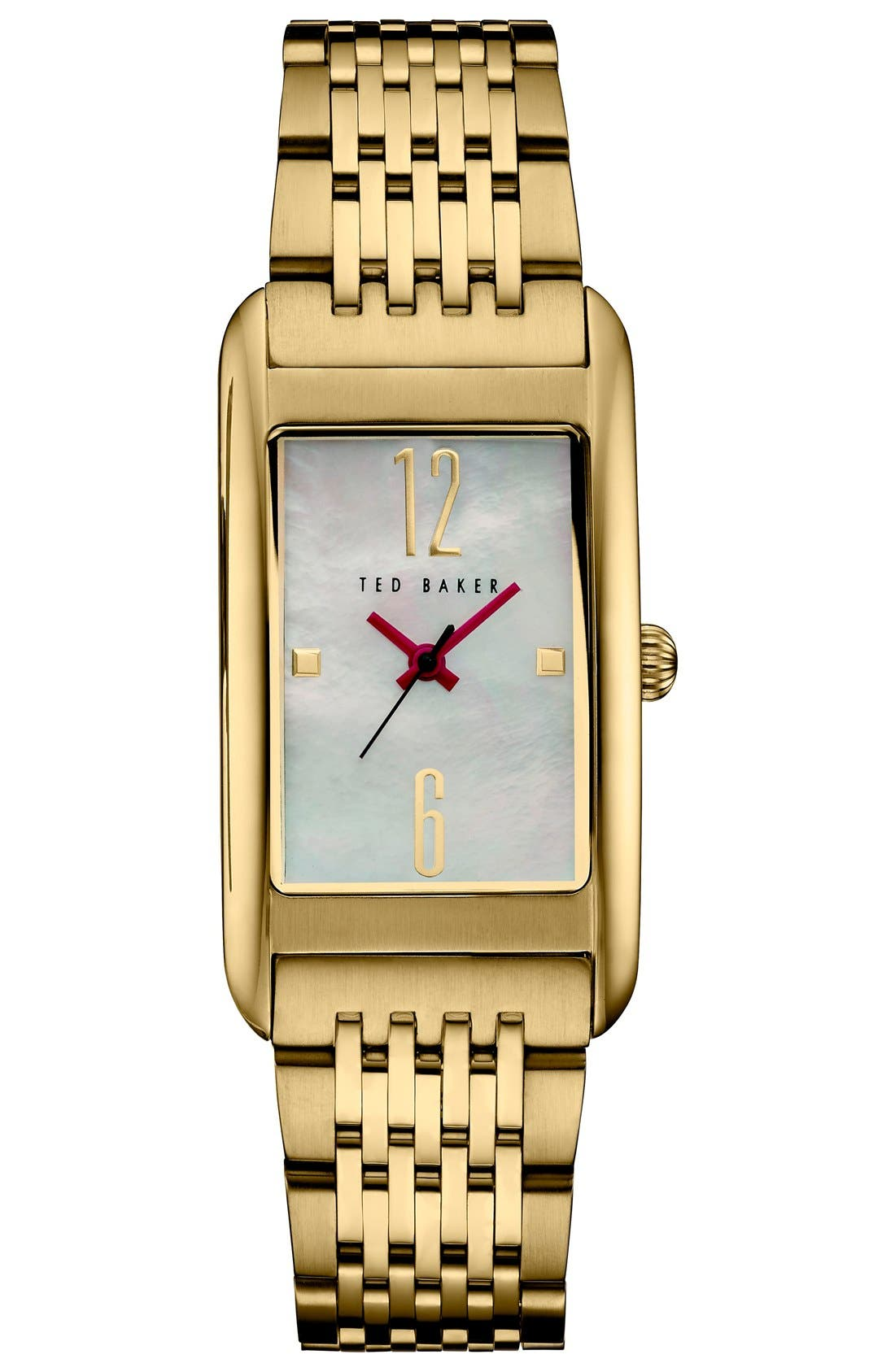 Rectangle Case Bracelet Watch, 23mm,                         Main,                         color, 710