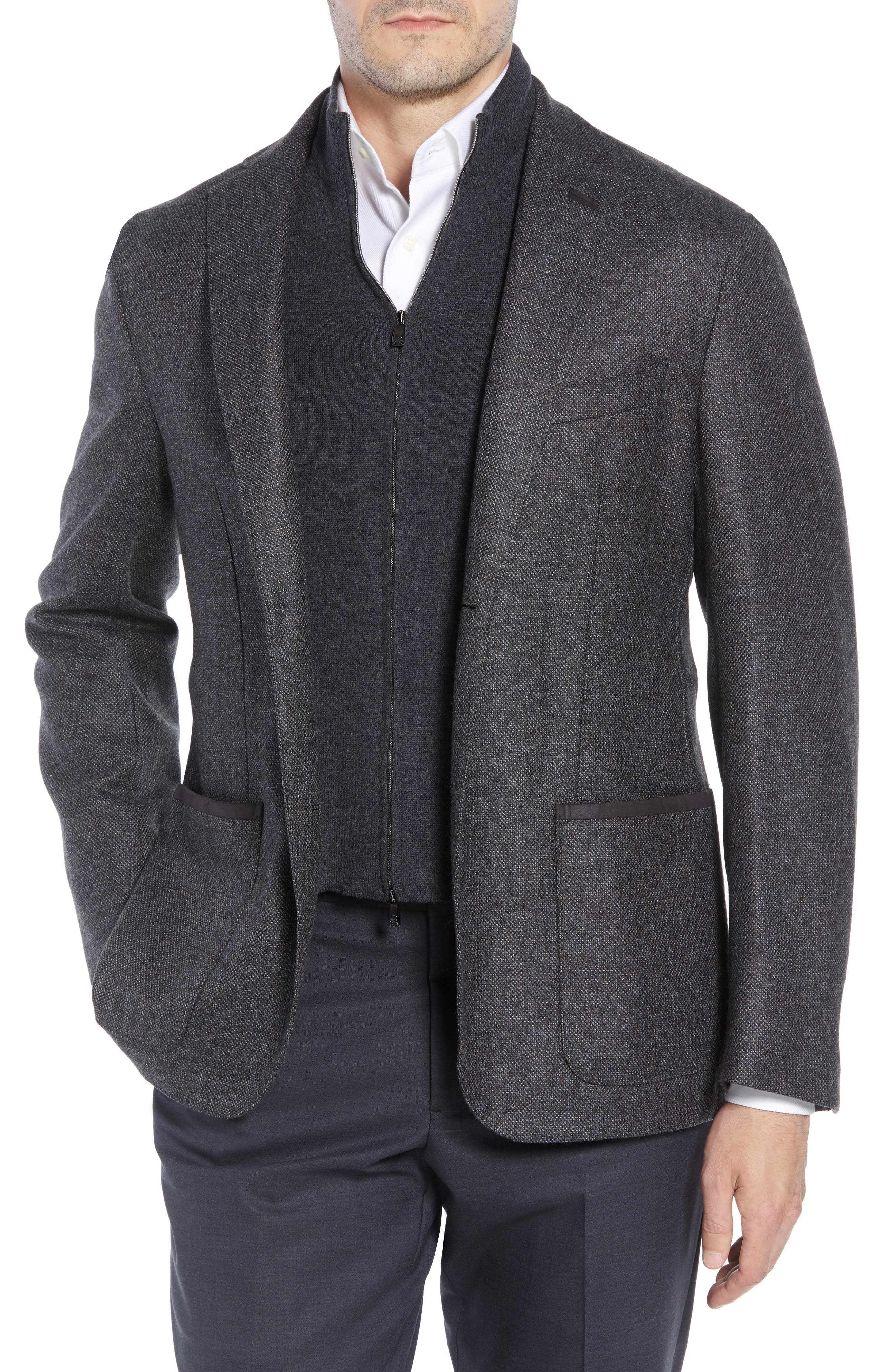 Classic Fit Stretch Tweed Wool Blend Sport Coat,                         Main,                         color, GREY