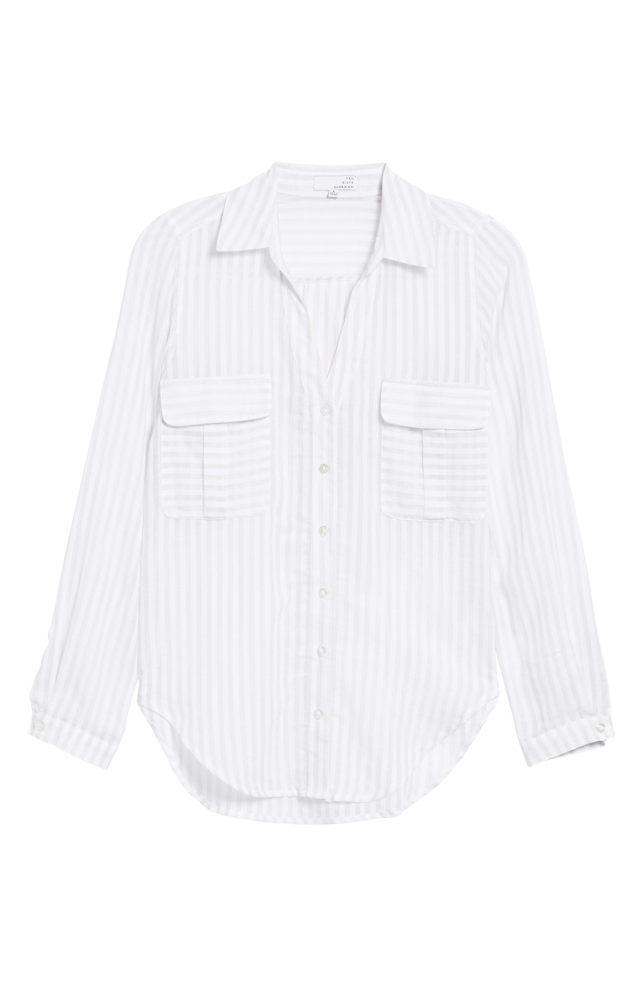 Shadow Stripe Shirt,                             Alternate thumbnail 7, color,                             025