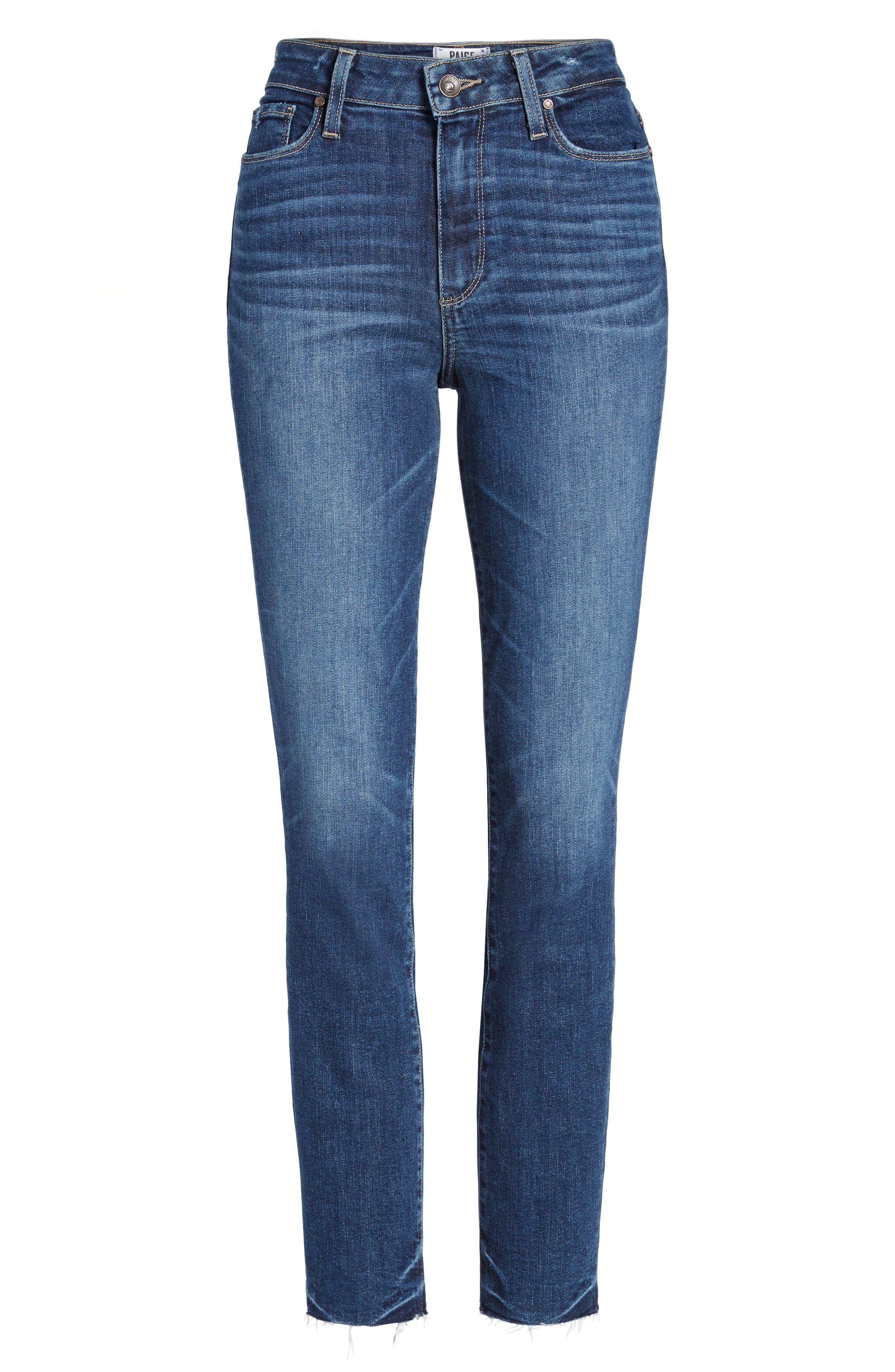 Transcend Vintage - Hoxton High Waist Ankle Peg Jeans,                             Alternate thumbnail 7, color,                             400