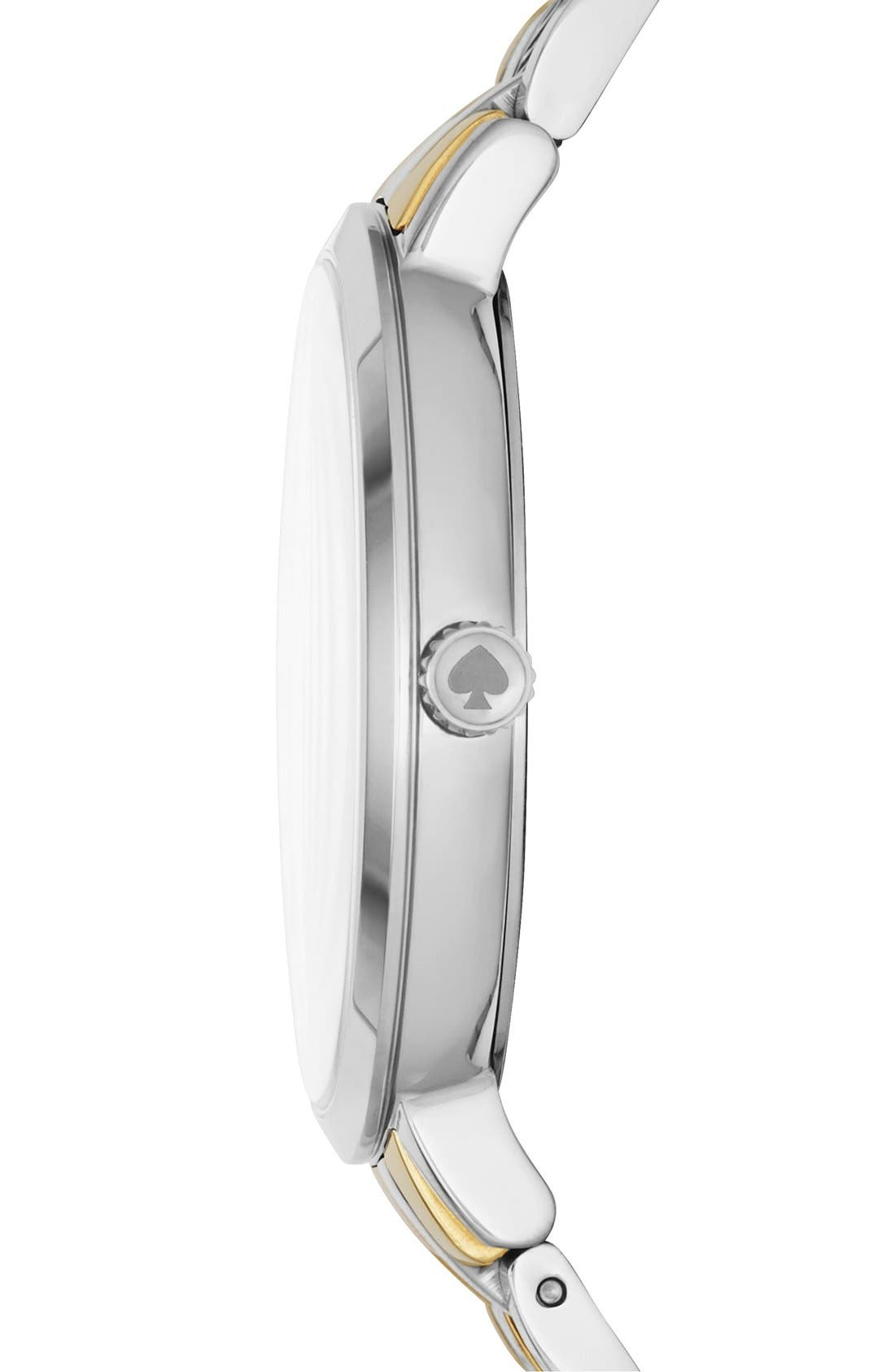 KATE SPADE NEW YORK,                             'monterey' bracelet watch, 38mm,                             Alternate thumbnail 3, color,                             040
