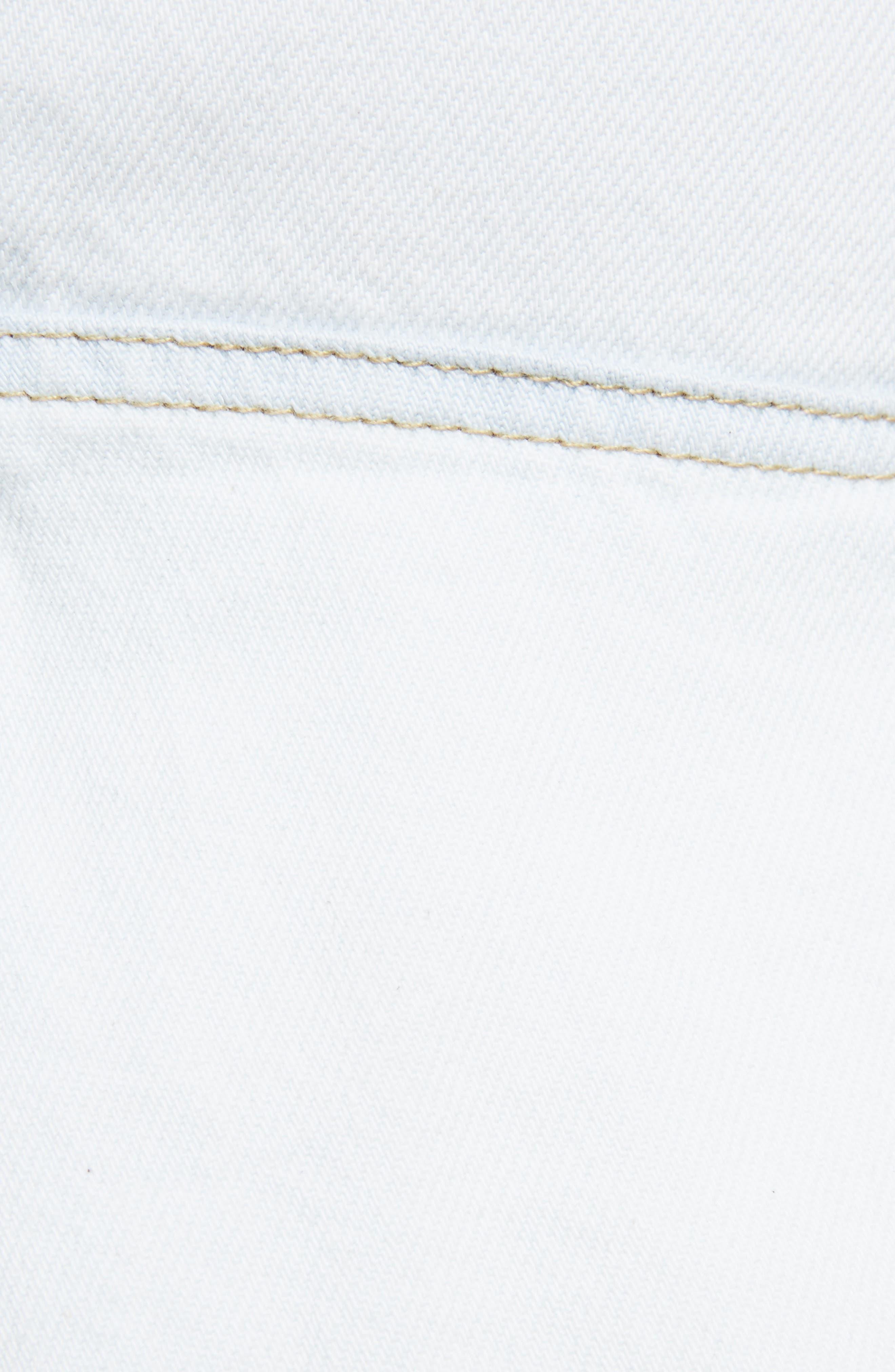 Coati Ruffle Denim Skirt,                             Alternate thumbnail 5, color,                             400