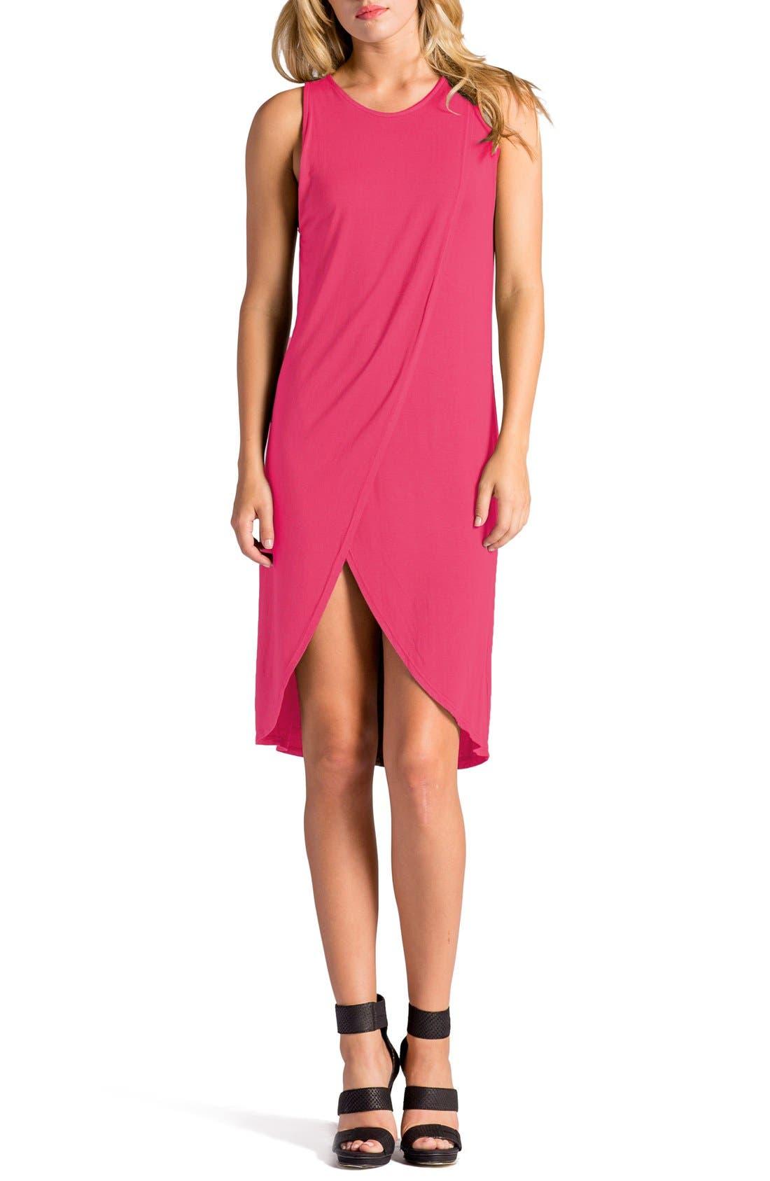 Elba Asymmetrical Hem Sleeveless Jersey Dress,                             Main thumbnail 5, color,
