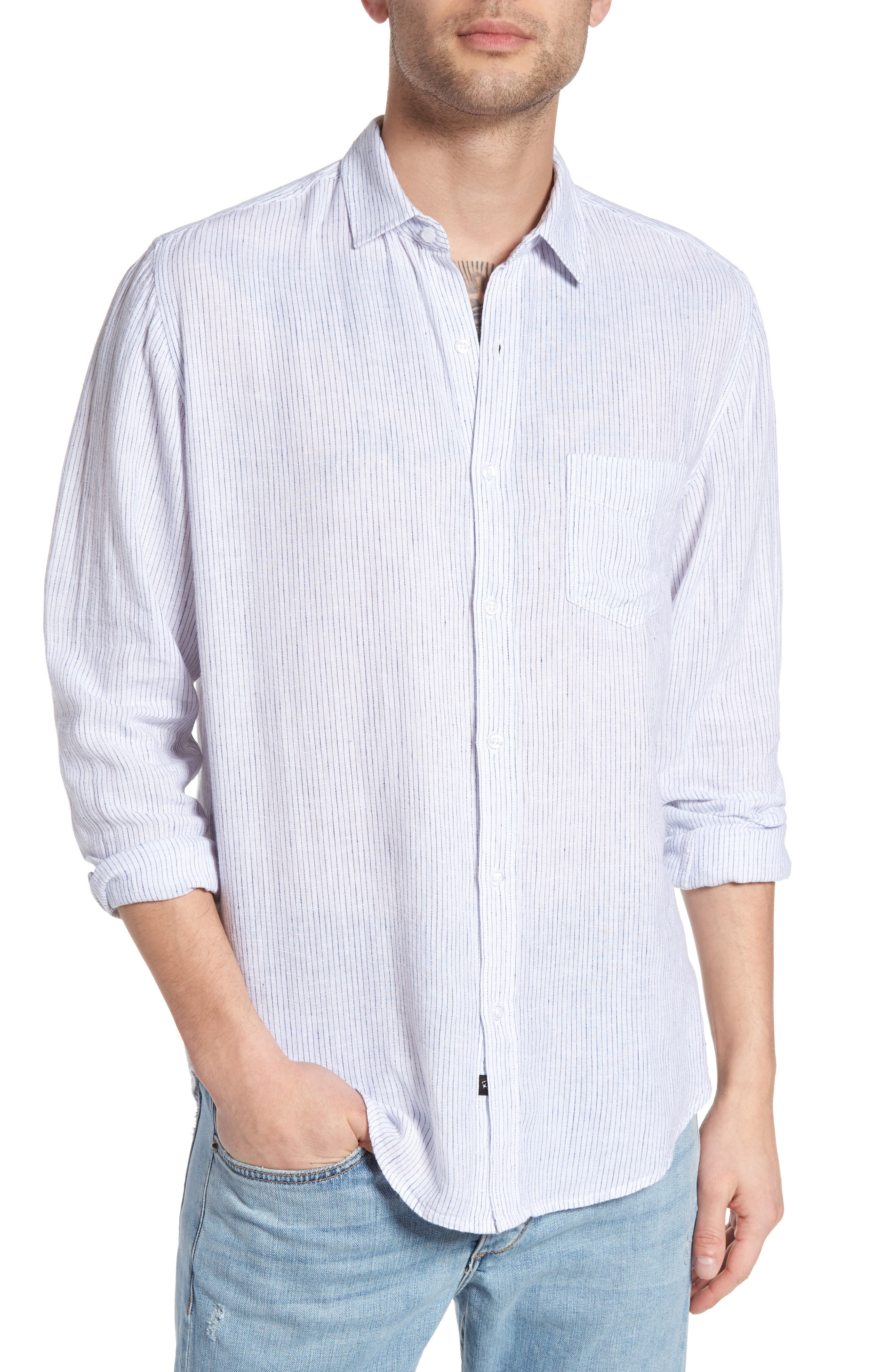 Connor Linen & Rayon Shirt,                             Main thumbnail 1, color,