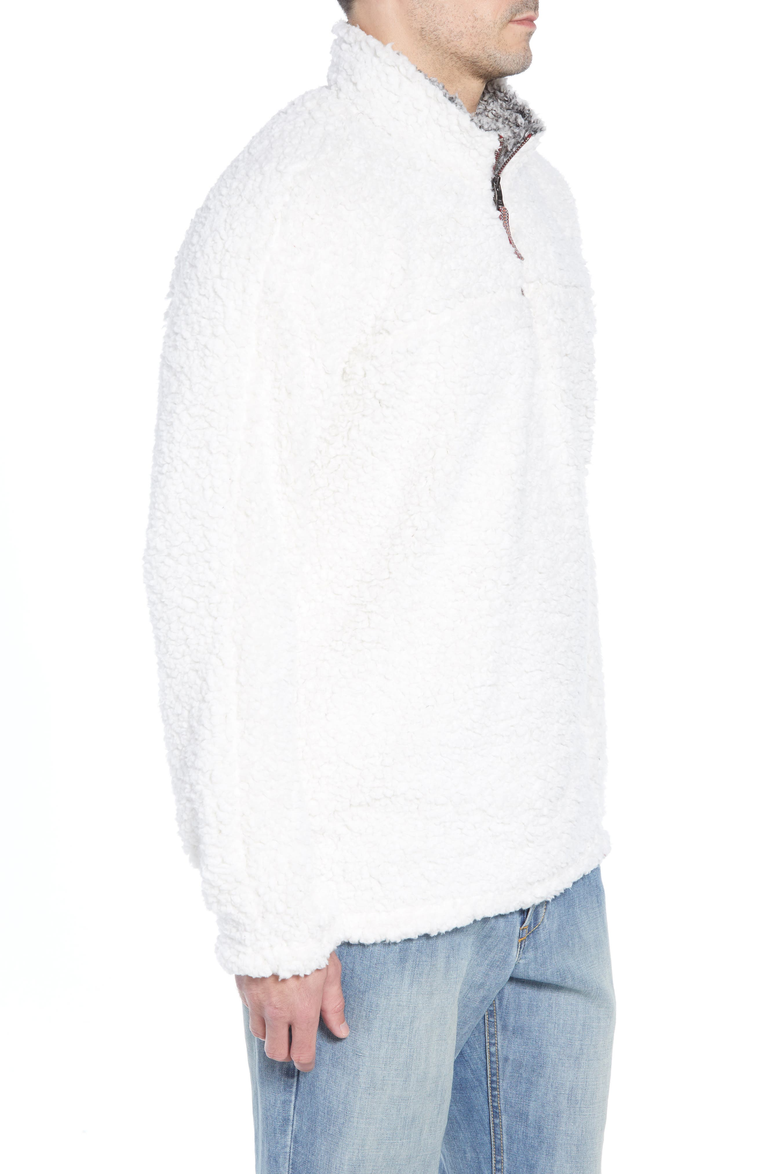 Frosty Tipped Quarter Zip Pullover,                             Alternate thumbnail 3, color,                             IVORY