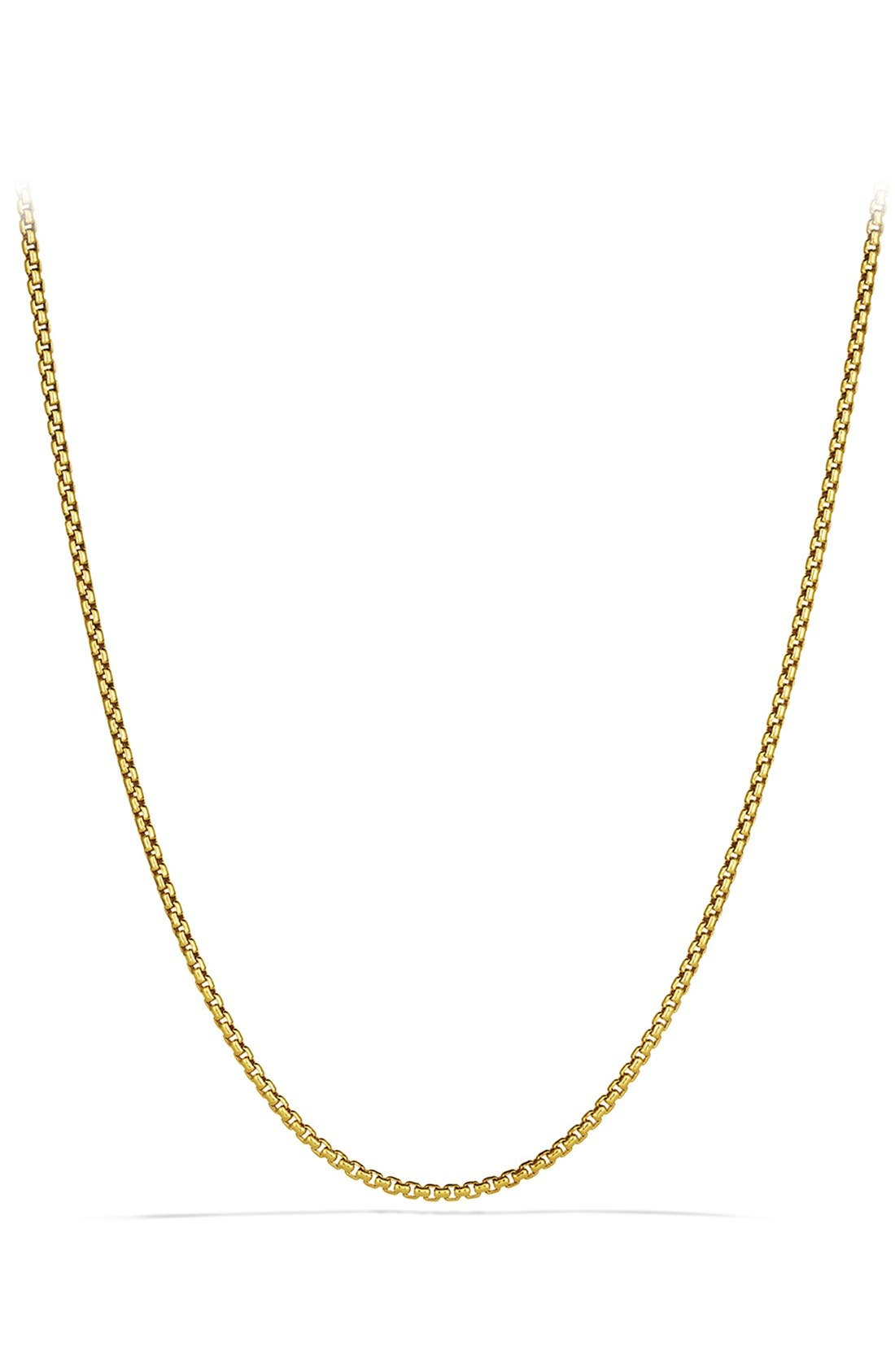 'Chain' Small Box Chain Necklace,                             Main thumbnail 1, color,                             GOLD
