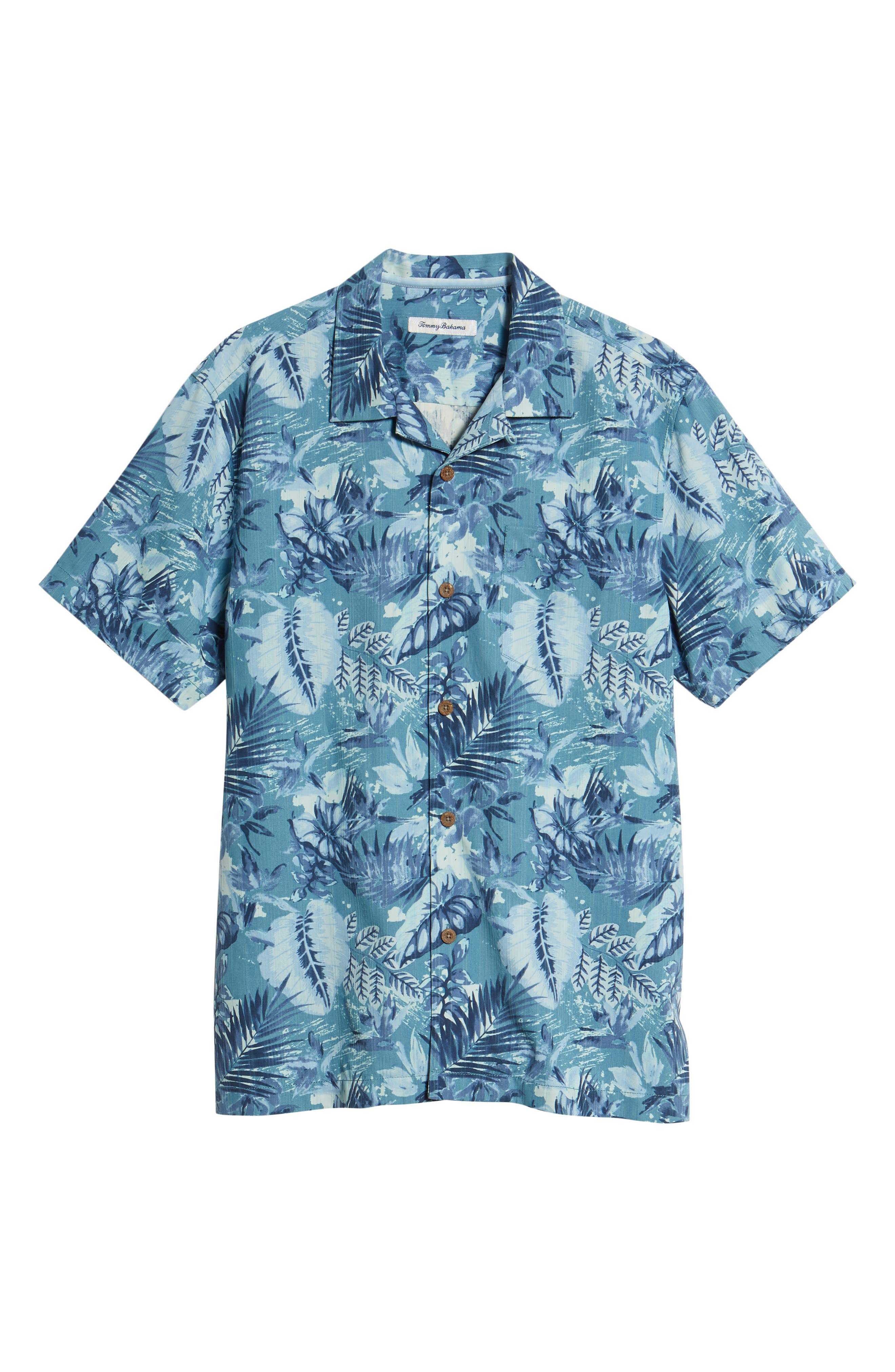 Selva Shores Silk Blend Camp Shirt,                             Alternate thumbnail 6, color,                             400