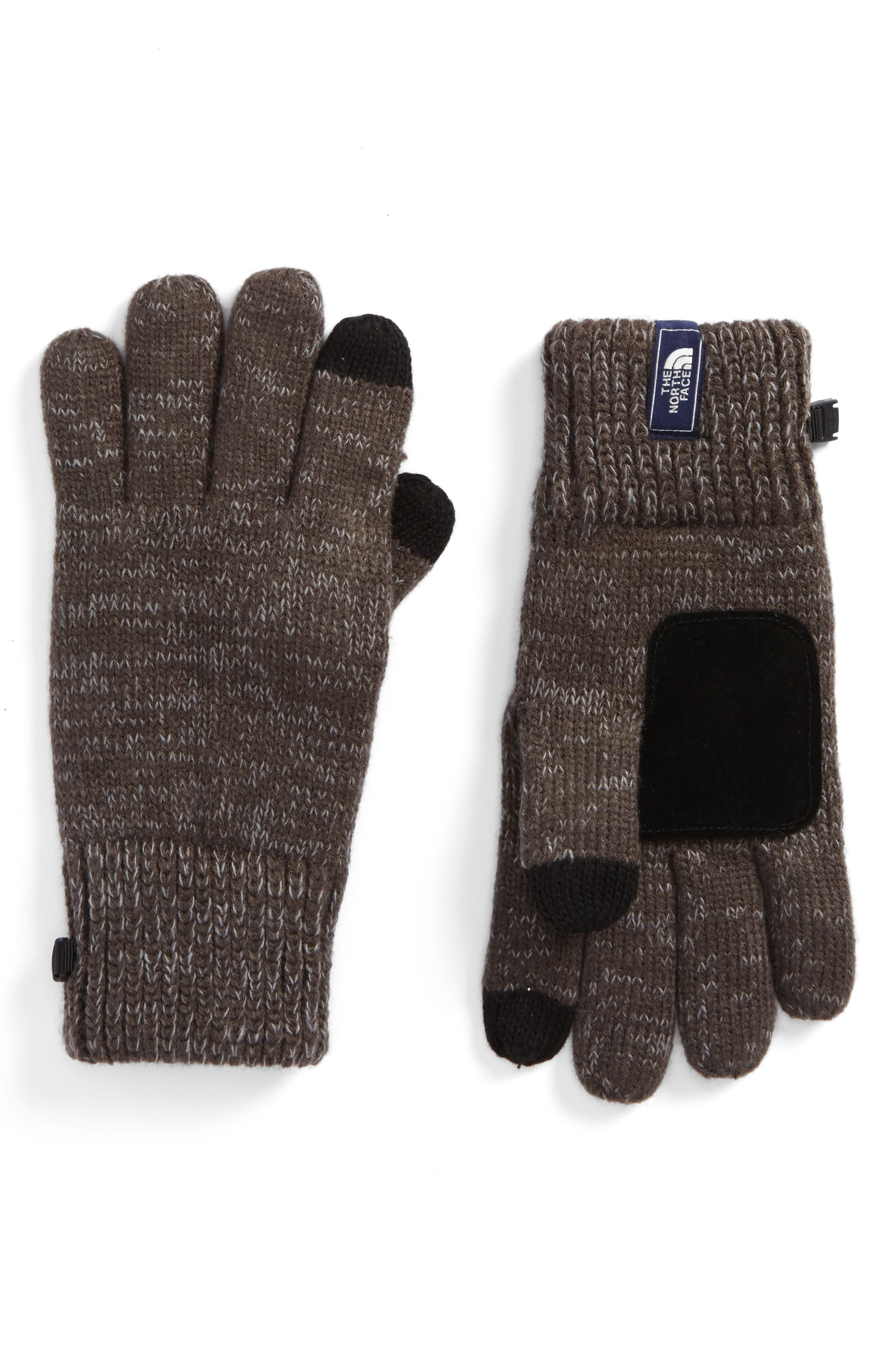 Etip Salty Dog Knit Tech Gloves,                         Main,                         color, GRAPHITE GREY/ MID GREY MARL