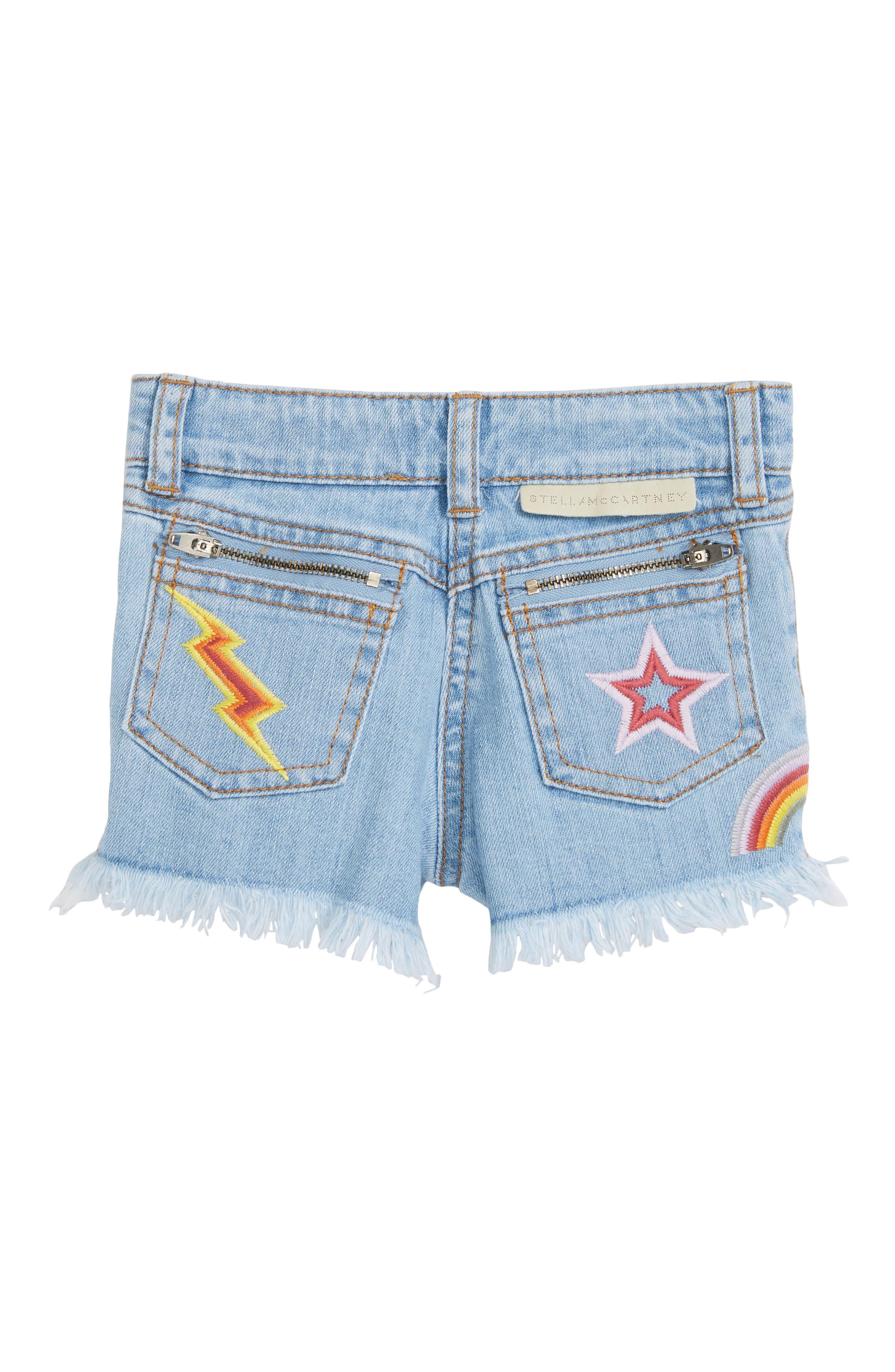 Kids Marlin Patched Cutoff Denim Shorts,                             Alternate thumbnail 2, color,                             401