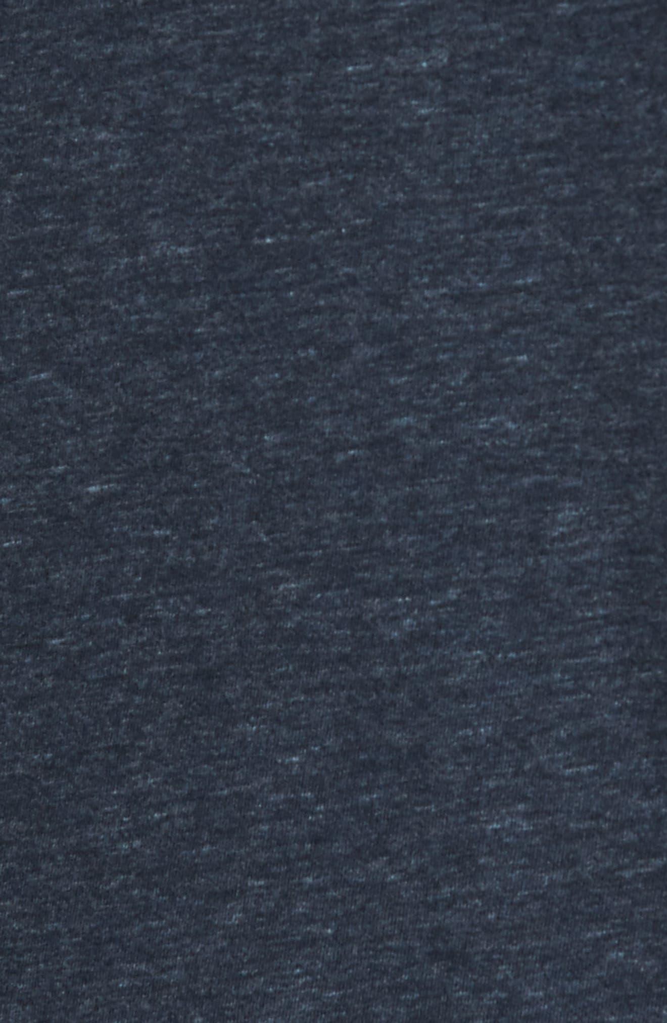Flynn V-Neck T-Shirt,                             Alternate thumbnail 5, color,                             NAVY