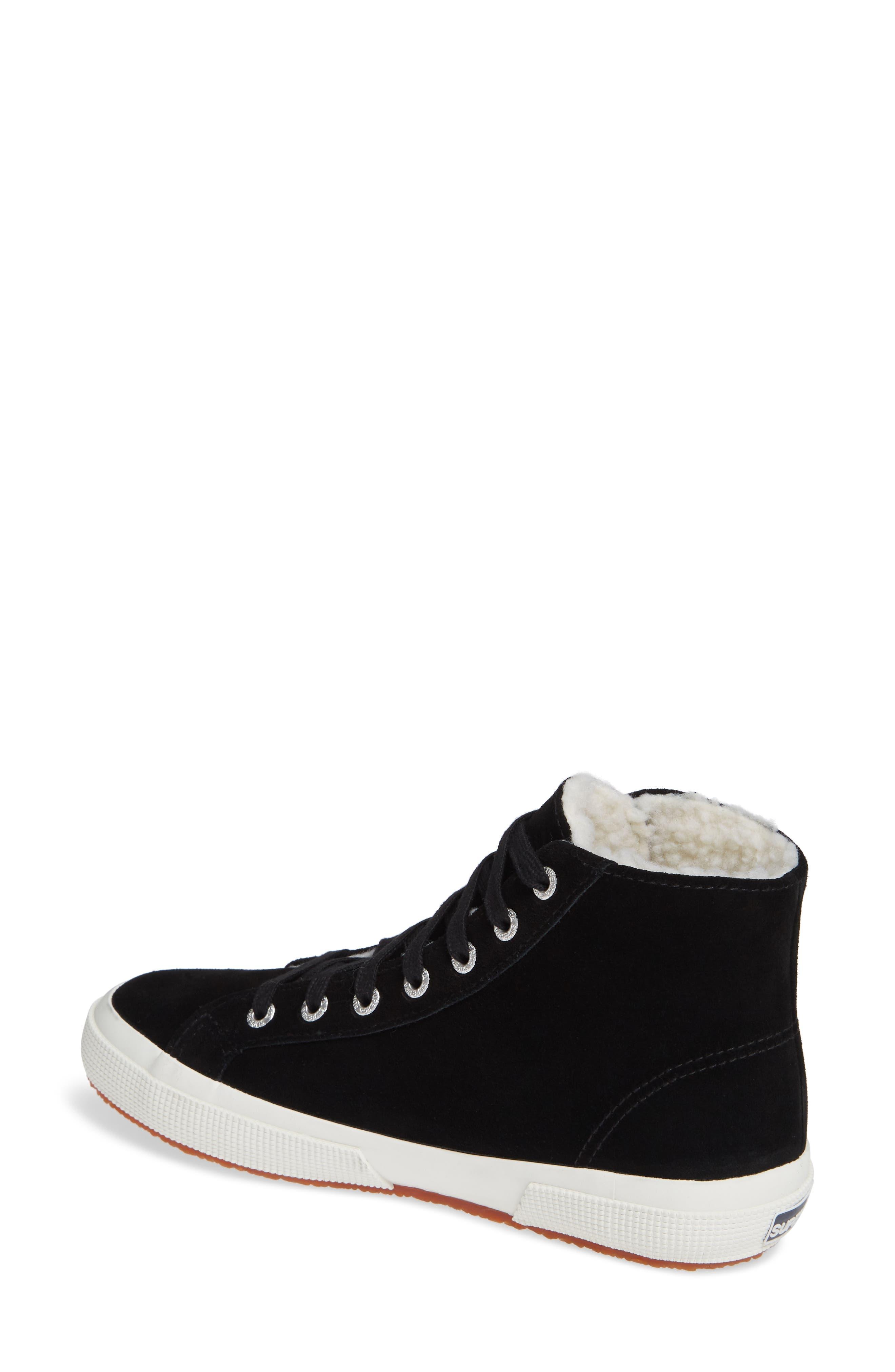 2795 Suefurw High Top Sneaker,                             Alternate thumbnail 2, color,                             BLACK SUEDE