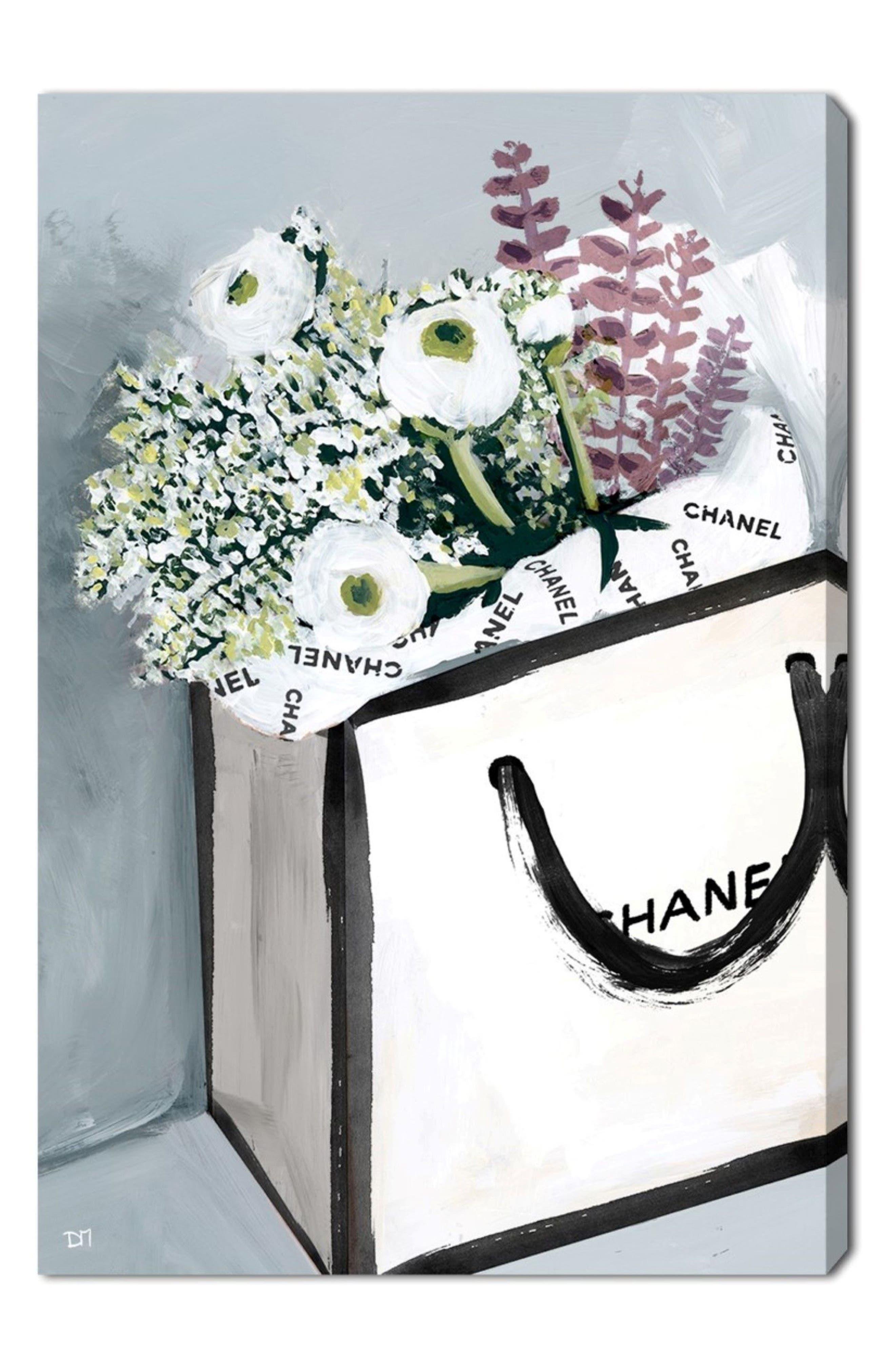 Flower Shopping Canvas Wall Art,                             Main thumbnail 1, color,                             400