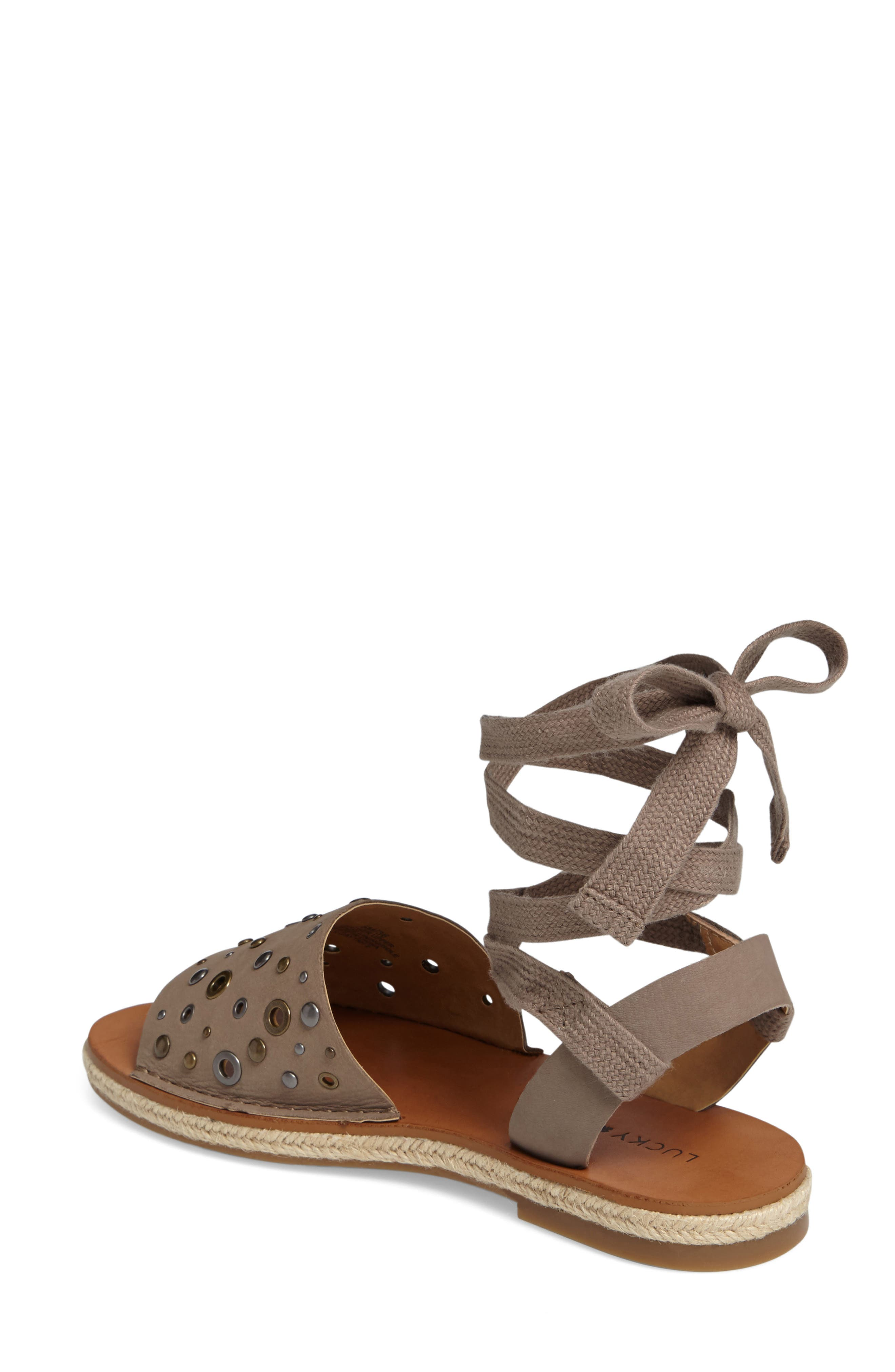 Daytah Ankle Tie Sandal,                             Alternate thumbnail 6, color,