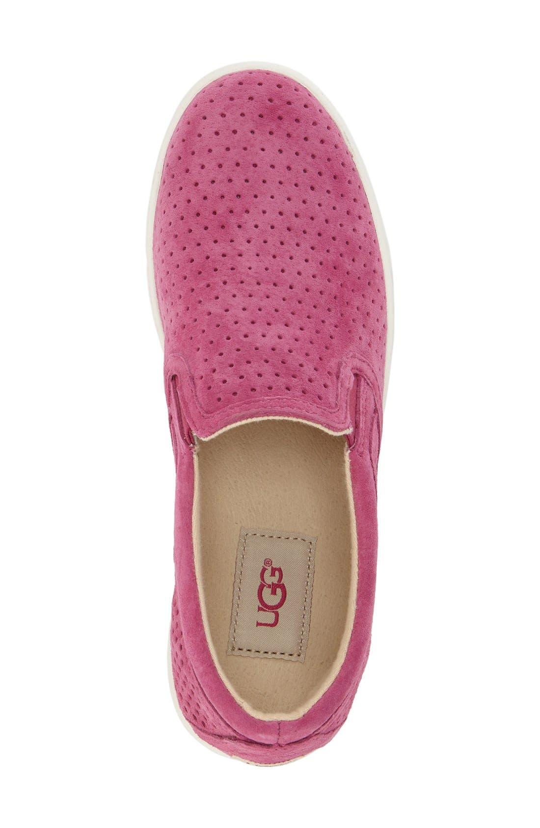 'Fierce Geo' Perforated Slip-On Sneaker,                             Alternate thumbnail 12, color,