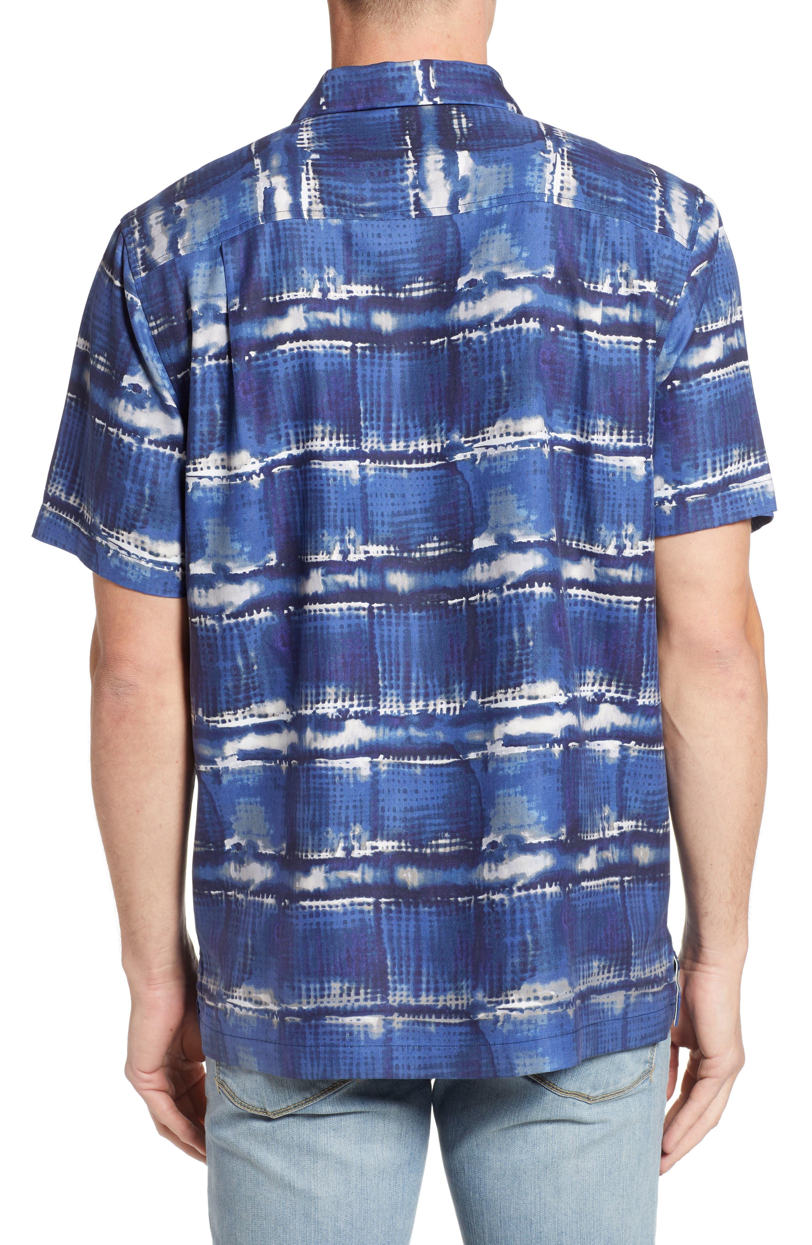 Tie Dye For Silk Camp Shirt,                             Alternate thumbnail 2, color,                             BLUE JEAN