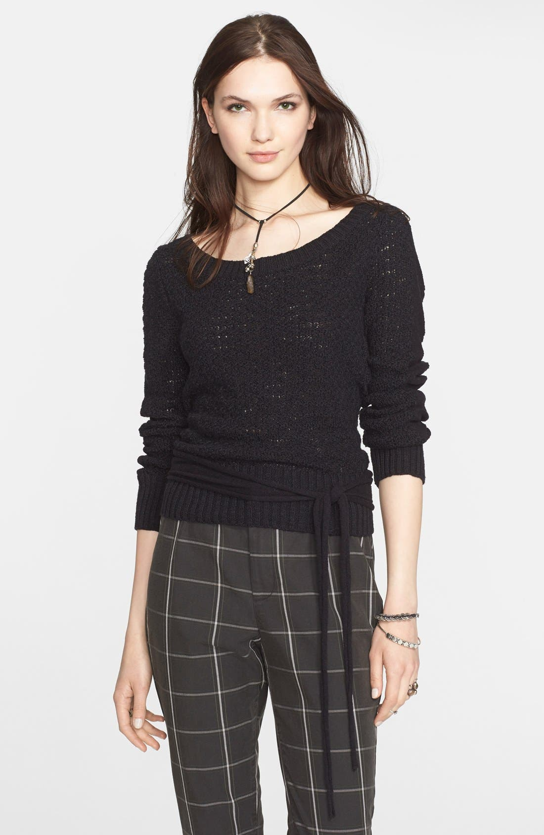 FREE PEOPLE Open Back Pullover, Main, color, 001