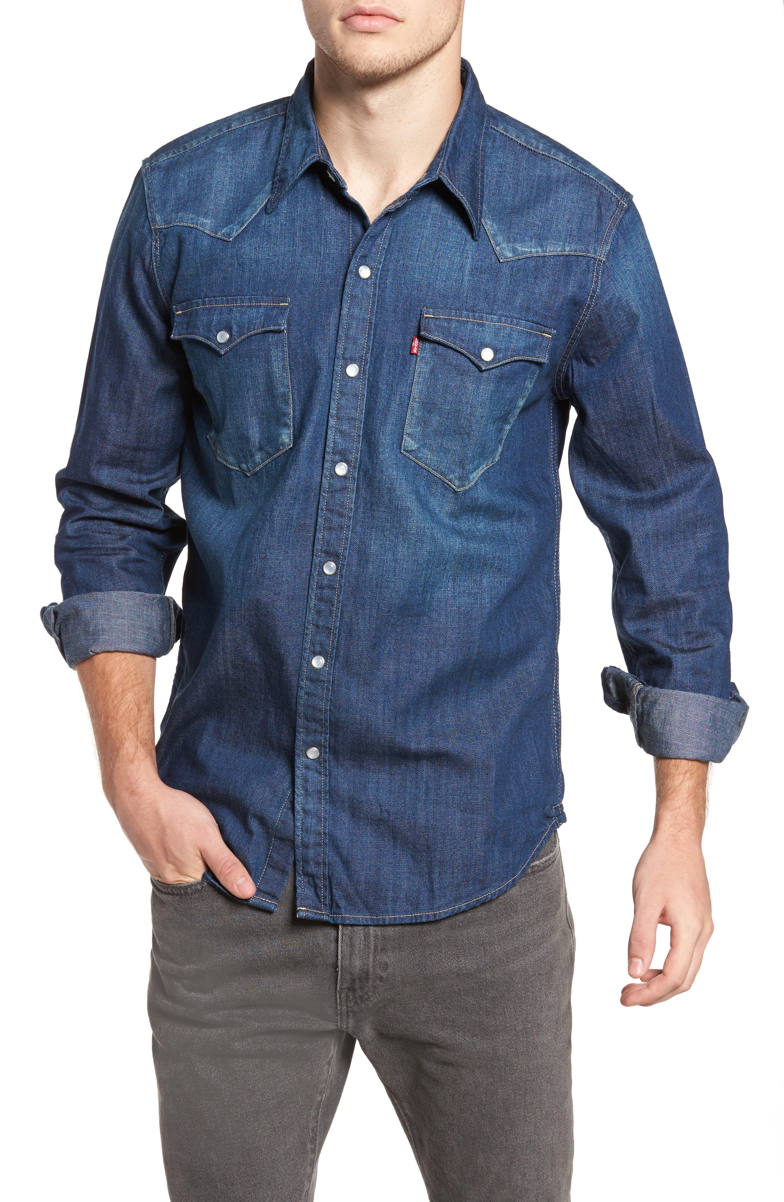 'Barstow' Denim Western Shirt,                             Main thumbnail 2, color,