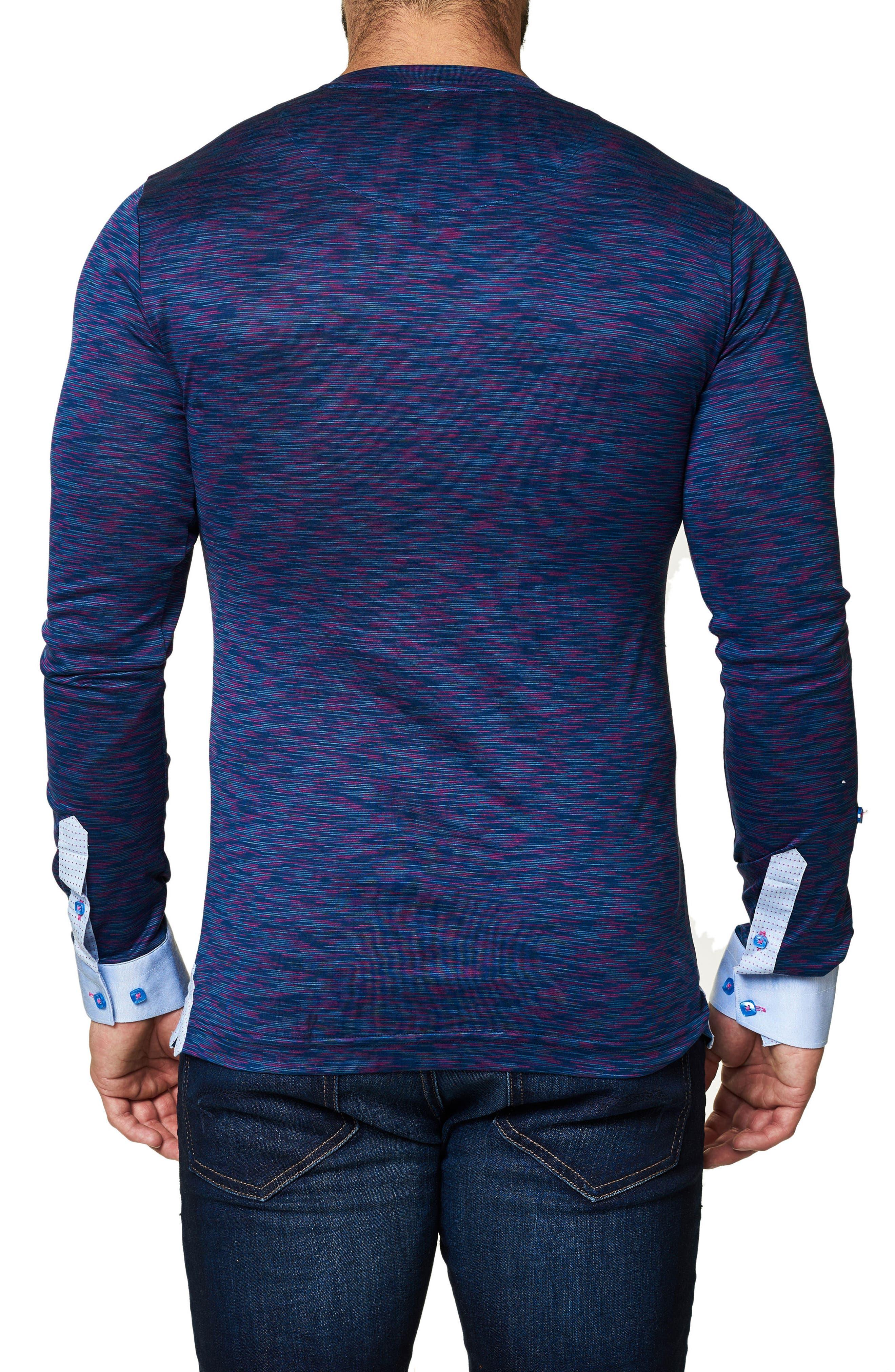 Print V-Neck T-Shirt,                             Alternate thumbnail 2, color,                             509