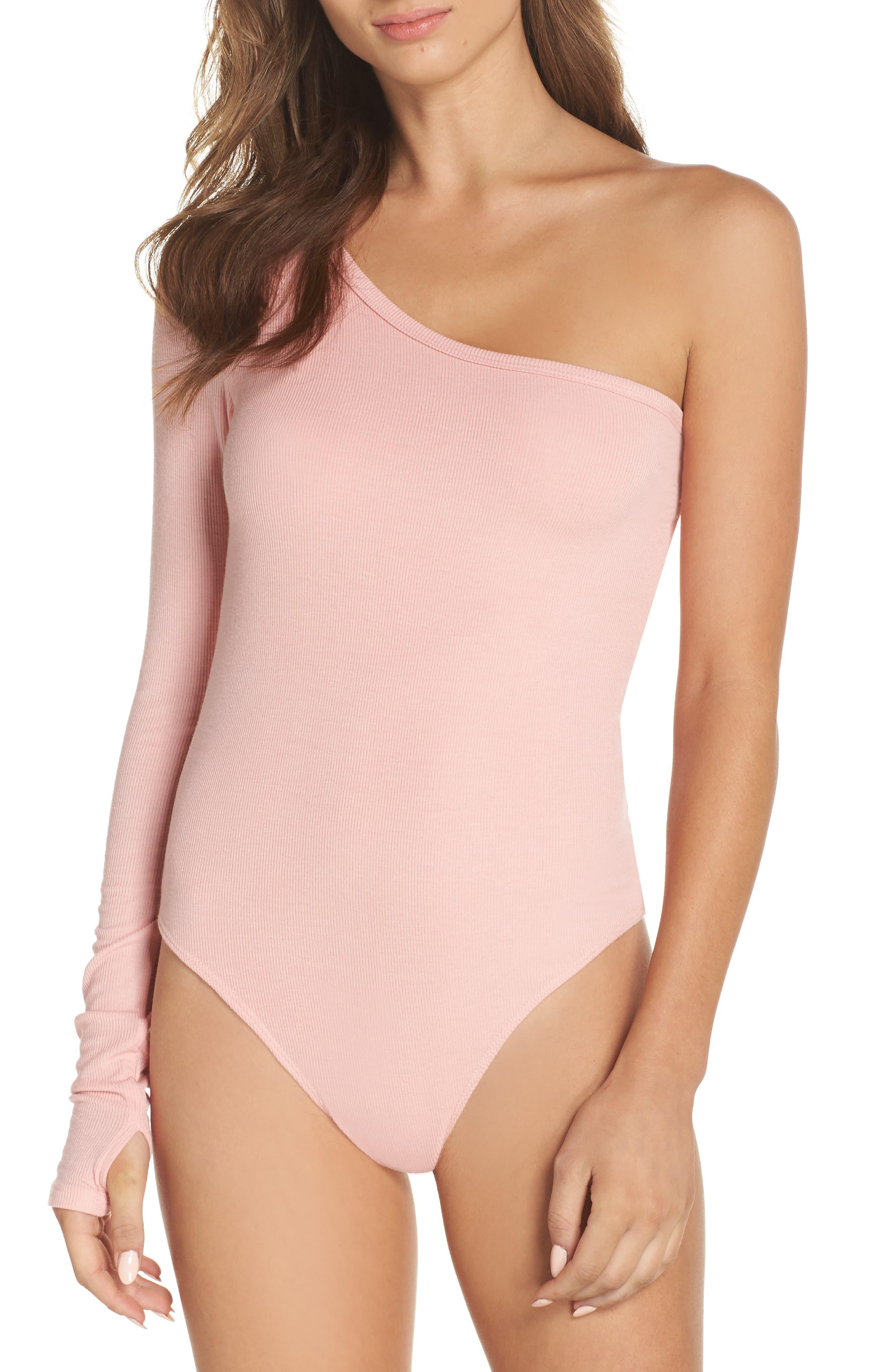 Sasha One-Shoulder Thong Bodysuit,                             Main thumbnail 2, color,